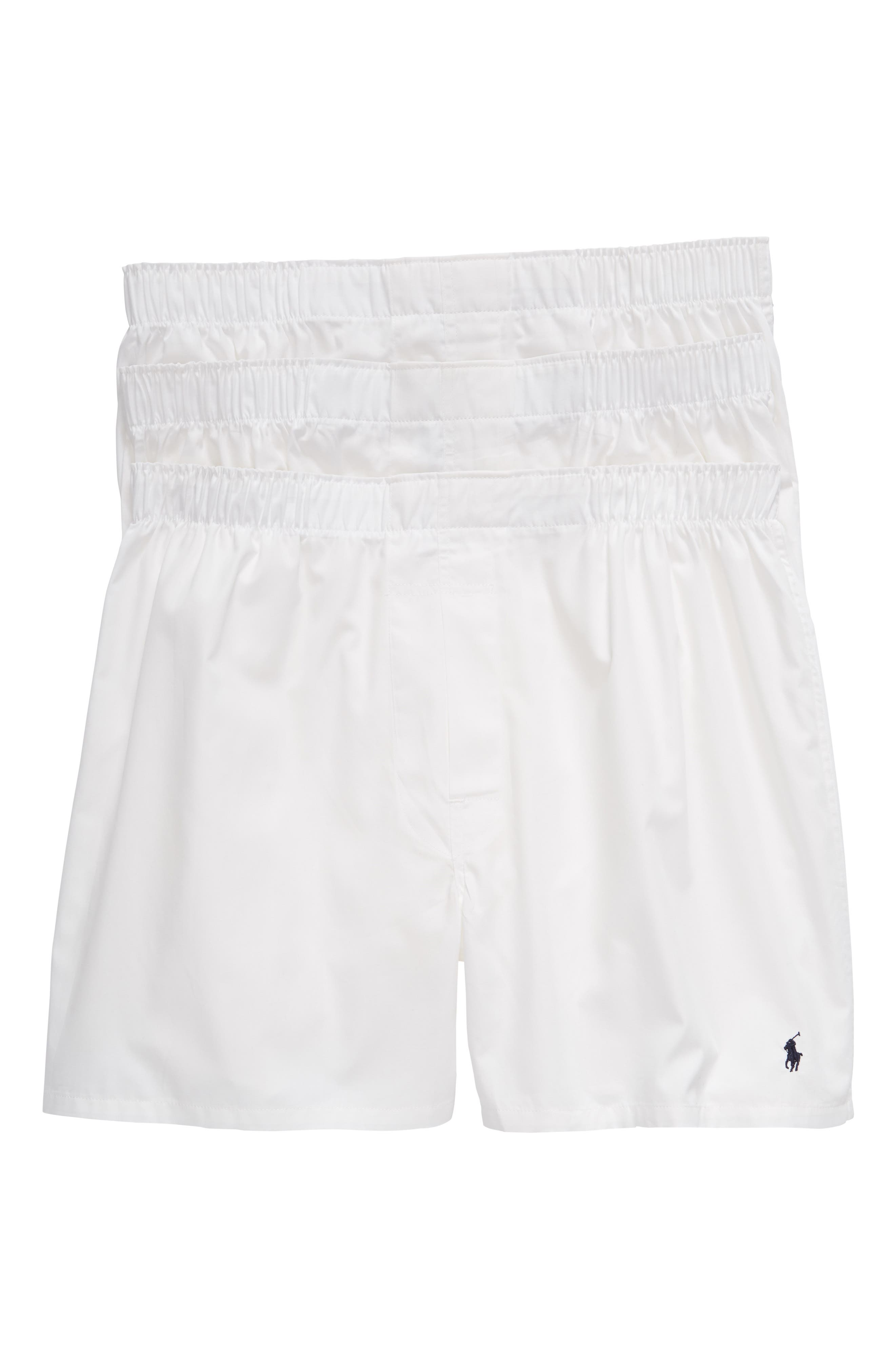 POLO RALPH LAUREN 3-Pack Boxers, Main, color, WHITE
