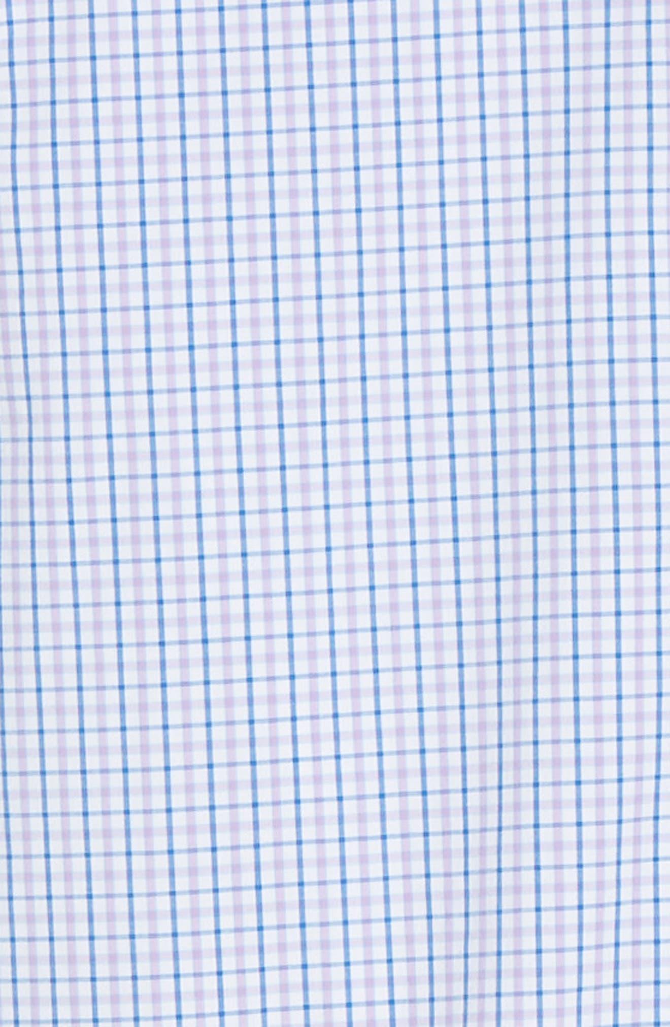 VINEYARD VINES, Tucker Regular Fit Balter Tattersall Sport Shirt, Alternate thumbnail 6, color, SEA URCHIN