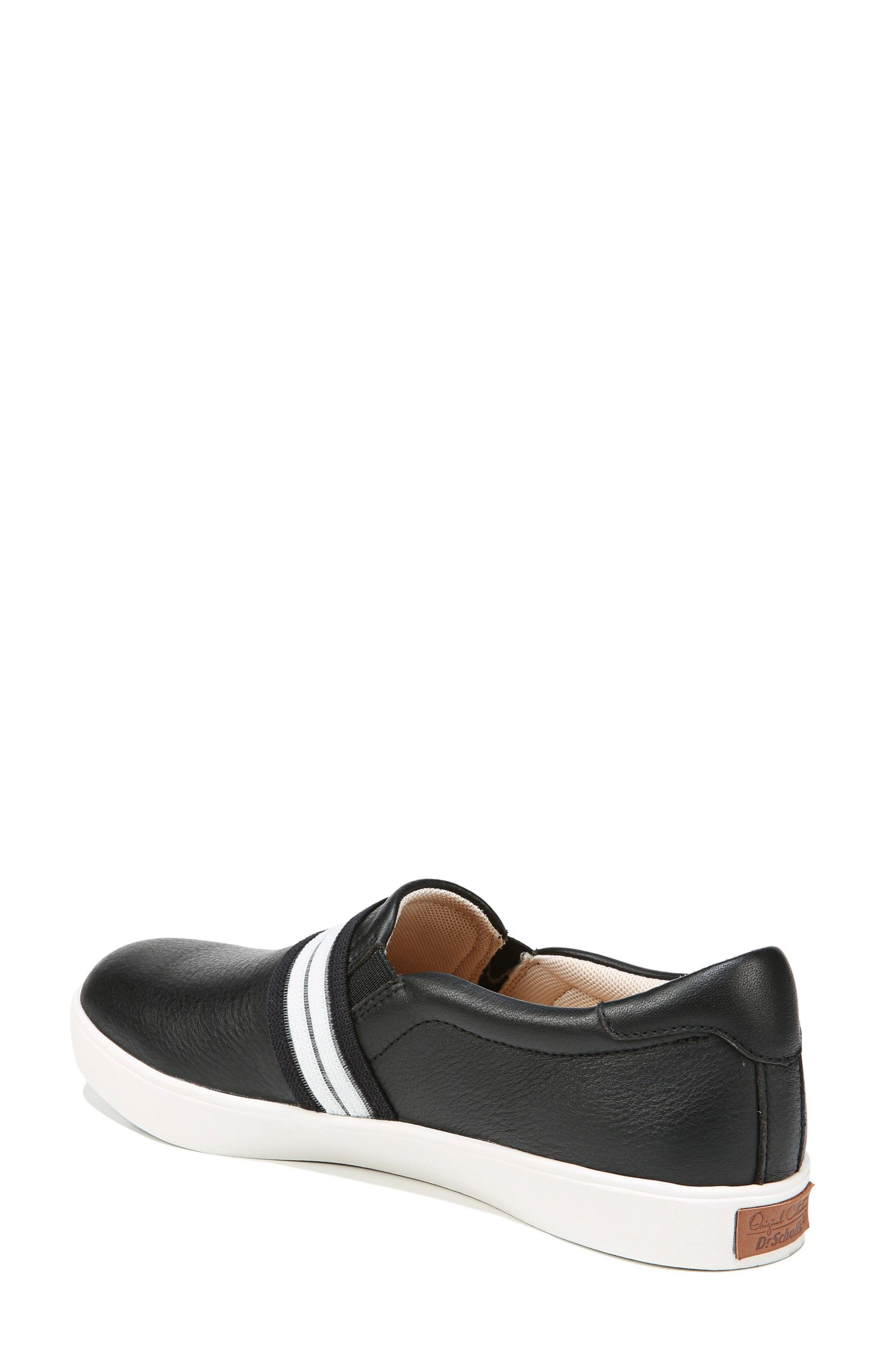 DR. SCHOLL'S, Scout Slip-On Sneaker, Alternate thumbnail 2, color, BLACK LEATHER 2