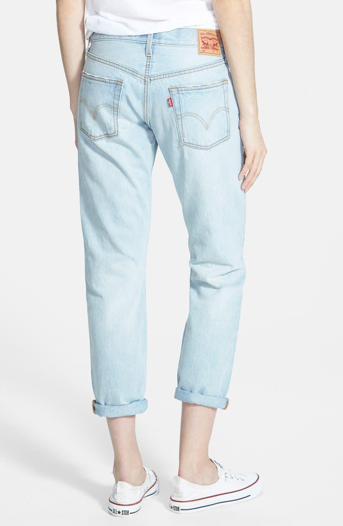 LEVI'S<SUP>®</SUP>, Levi's '501<sup>®</sup> CT' Boyfriend Jeans, Alternate thumbnail 4, color, 400