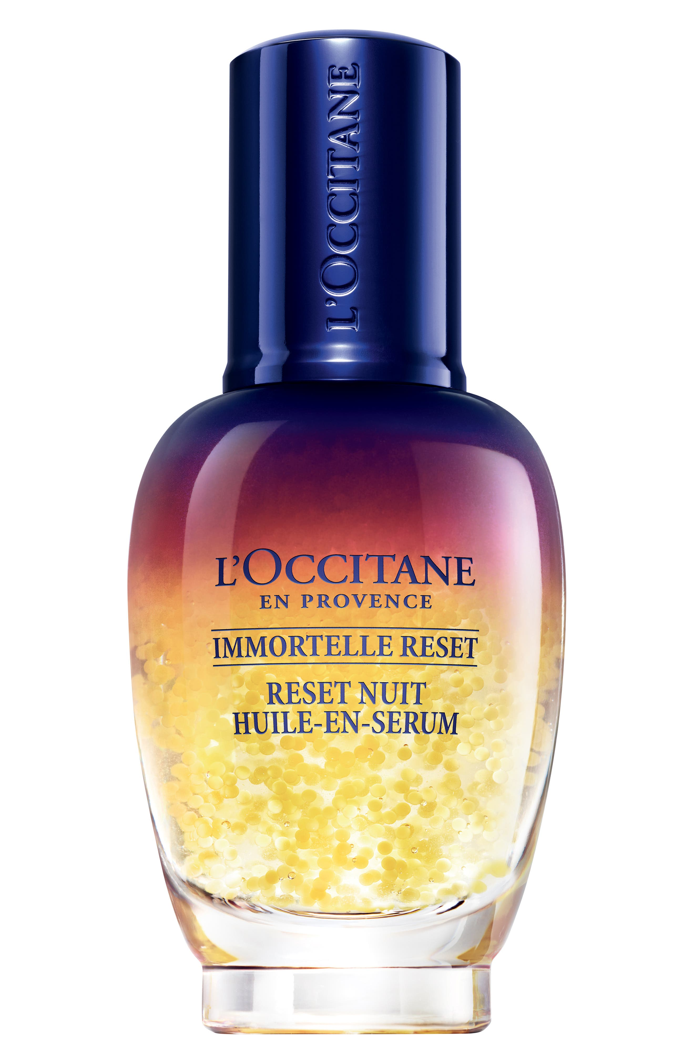 L'OCCITANE, Immortelle Overnight Reset Oil-in-Serum, Main thumbnail 1, color, 000