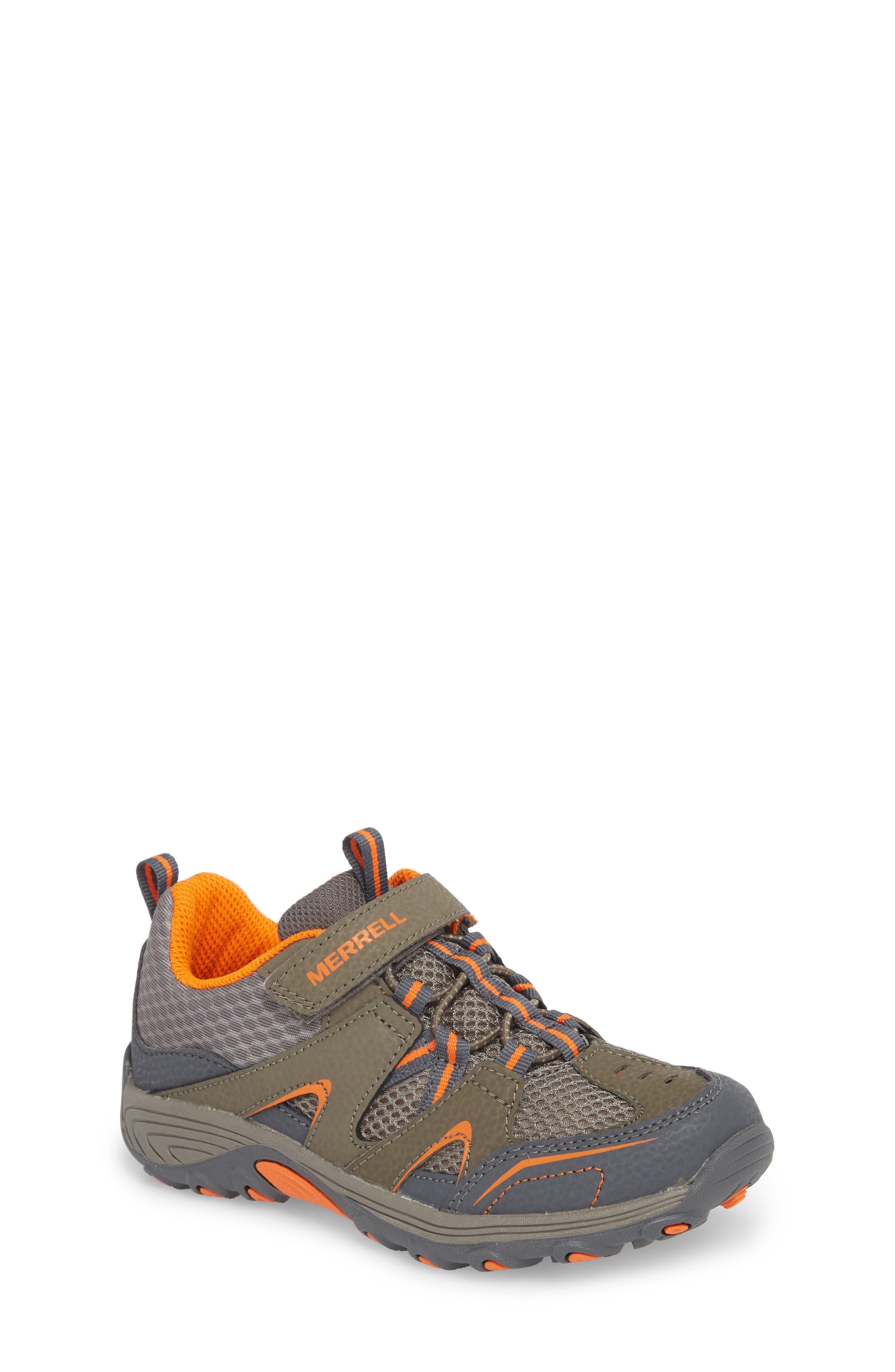 MERRELL, Trail Chaser Sneaker, Main thumbnail 1, color, GUNSMOKE/ ORANGE