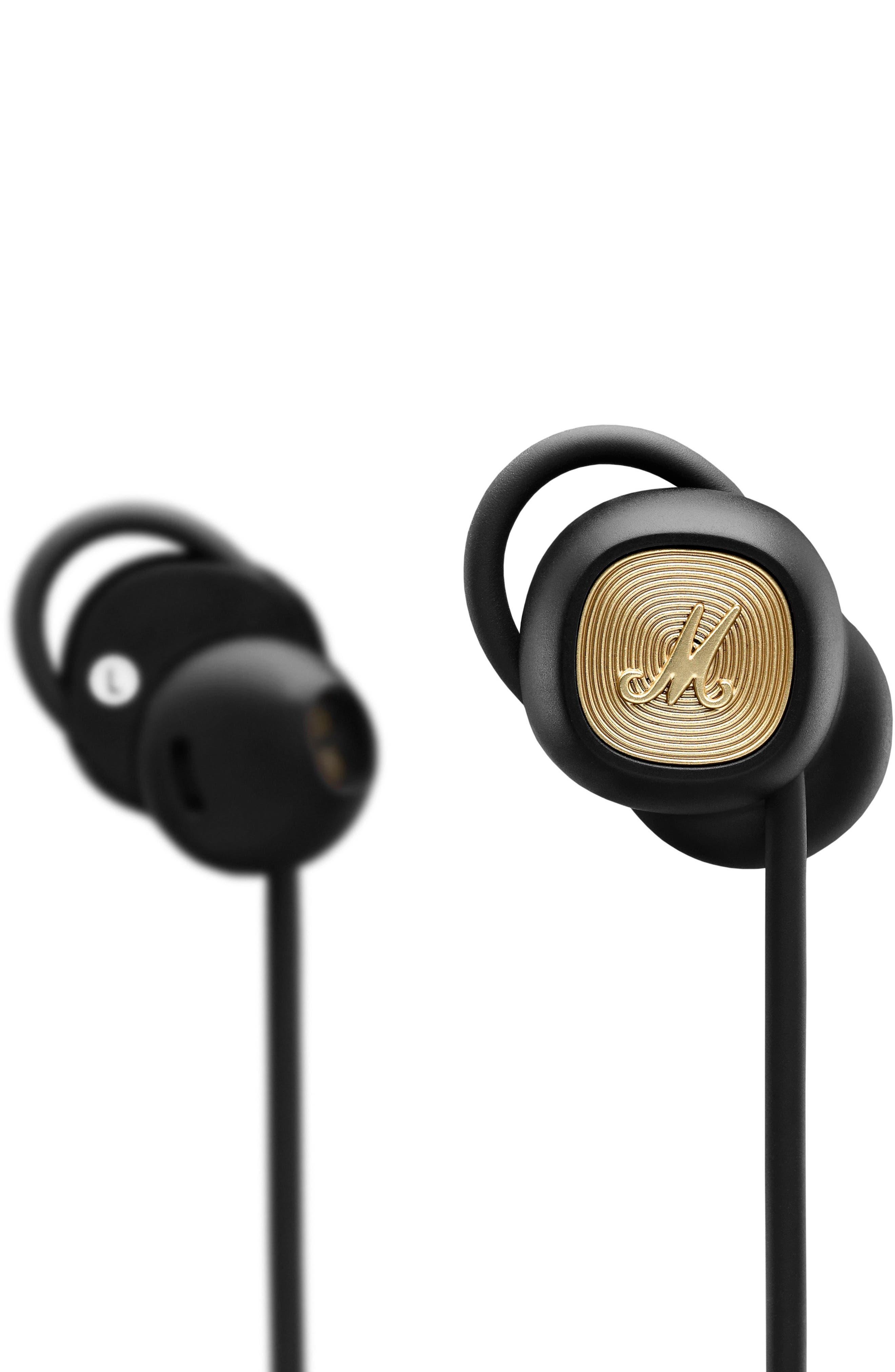 MARSHALL, Minor II Bluetooth In-Ear Headphones, Alternate thumbnail 2, color, BLACK