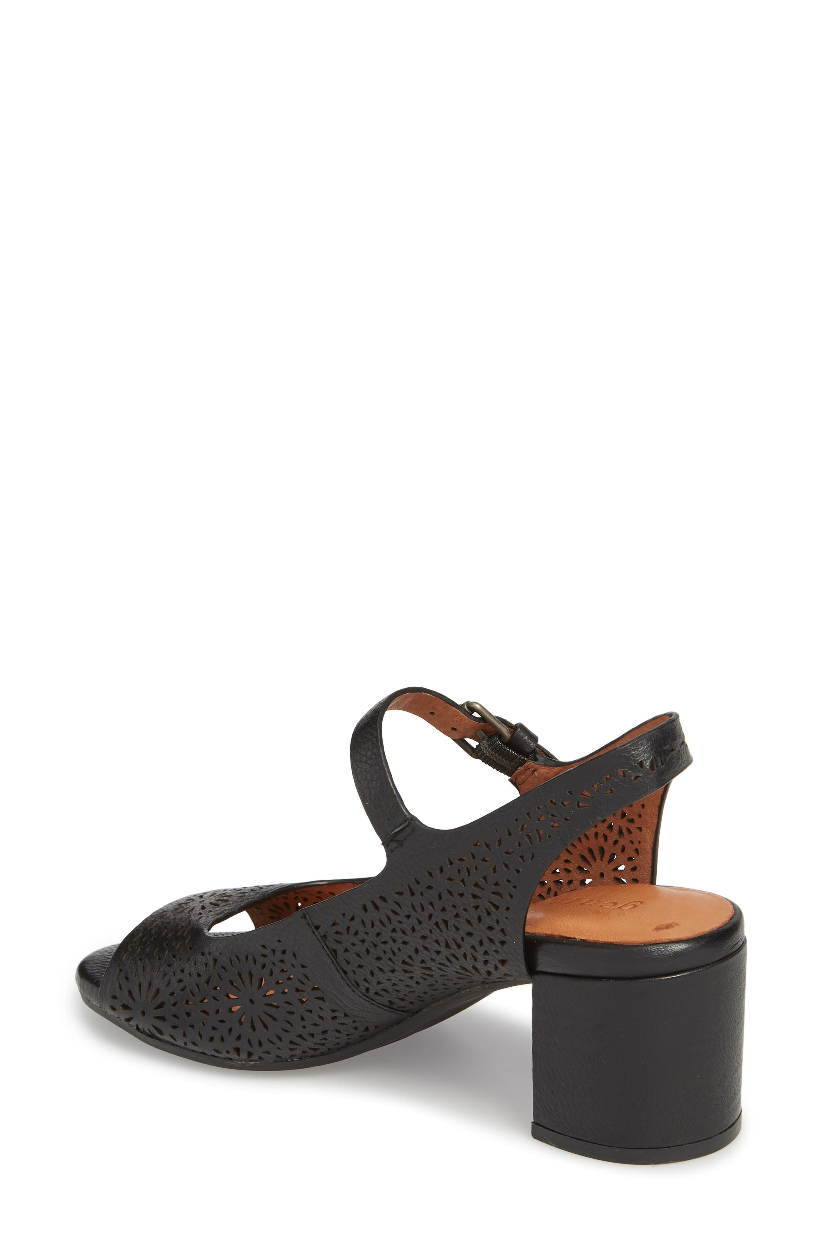 GENTLE SOULS BY KENNETH COLE, Cheryl 2 Sandal, Alternate thumbnail 2, color, BLACK LEATHER
