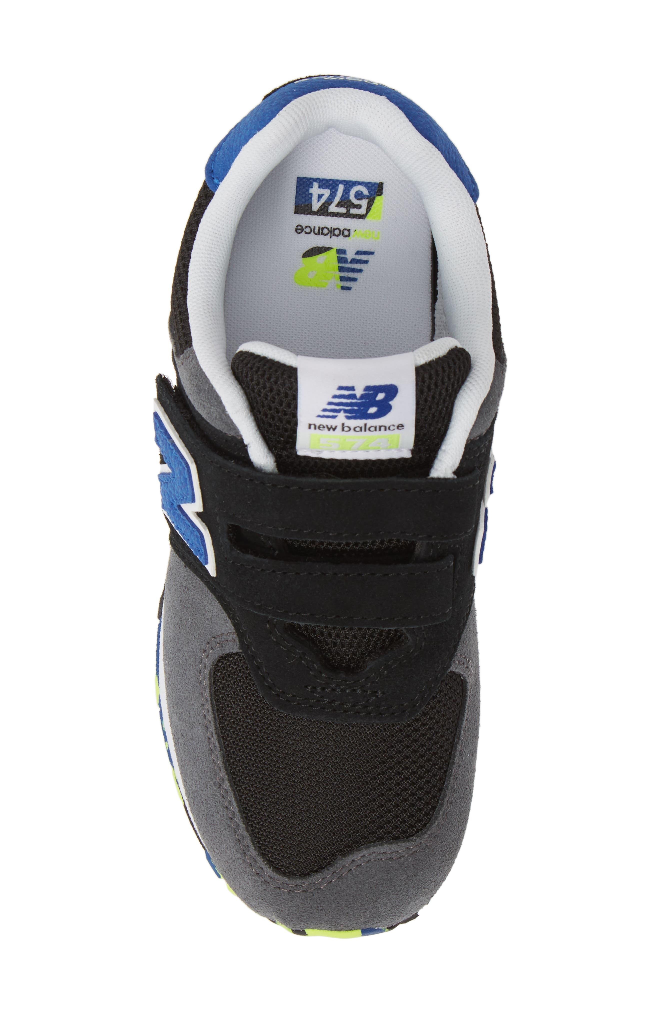 NEW BALANCE, 574 Sneaker, Alternate thumbnail 5, color, BLACK/ BLACK