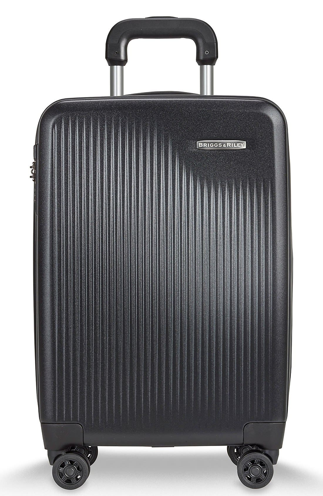 BRIGGS & RILEY, 'Sympatico' Expandable Wheeled Carry-On, Main thumbnail 1, color, BLACK