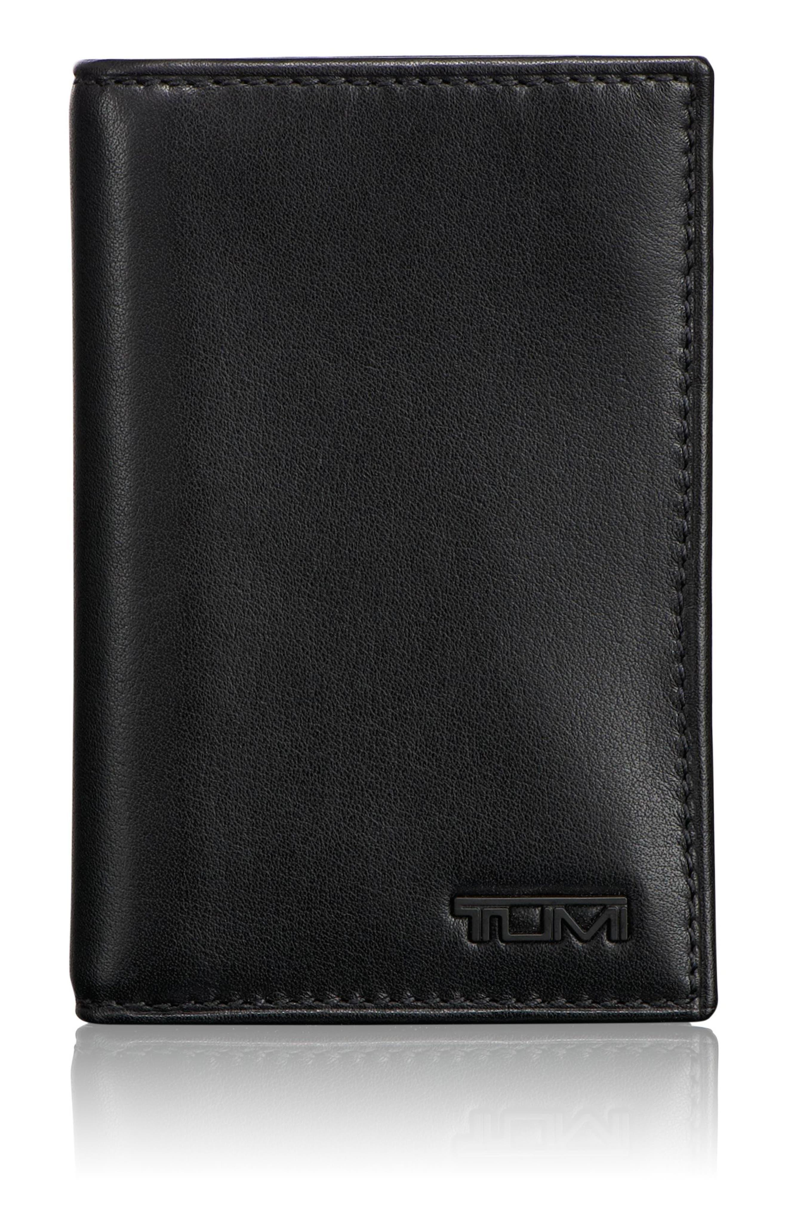 TUMI, Delta - ID Lock<sup>™</sup> Shielded Multi Window Card Case, Main thumbnail 1, color, BLACK