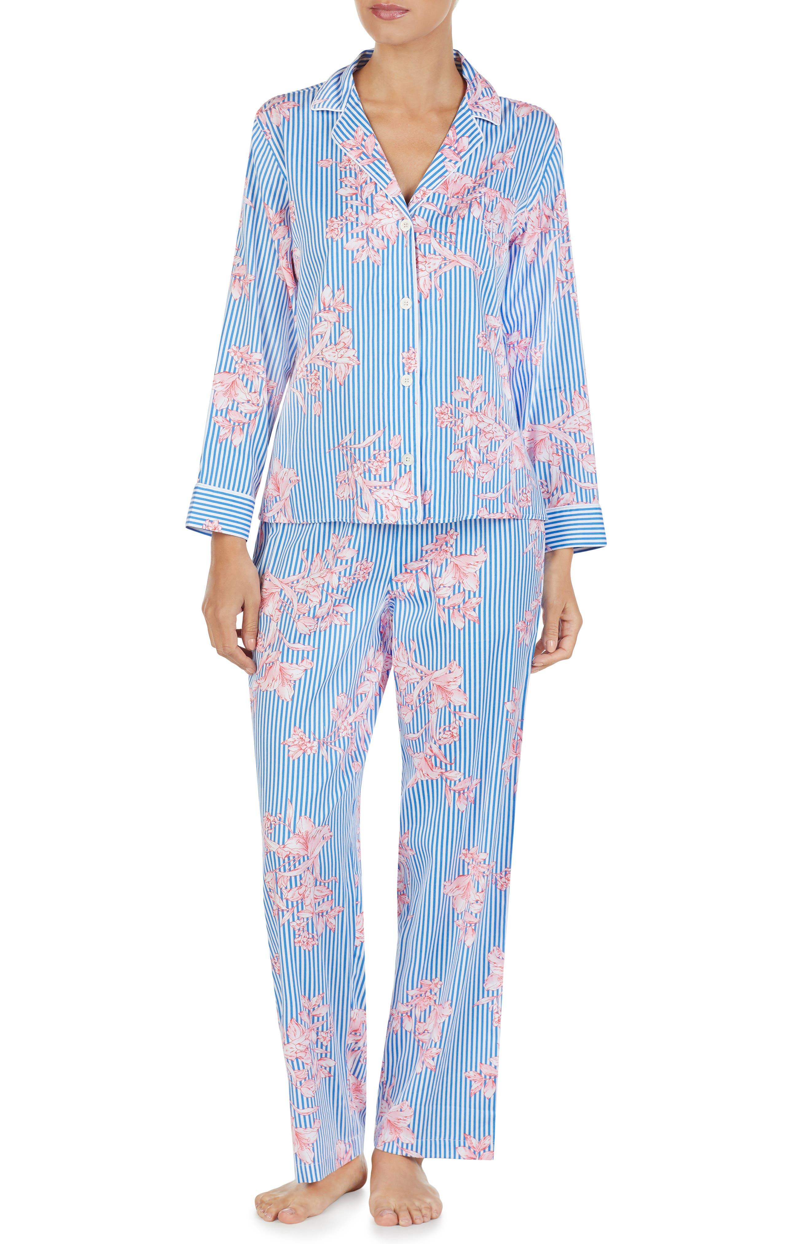 LAUREN RALPH LAUREN, Floral Pajamas, Main thumbnail 1, color, 486