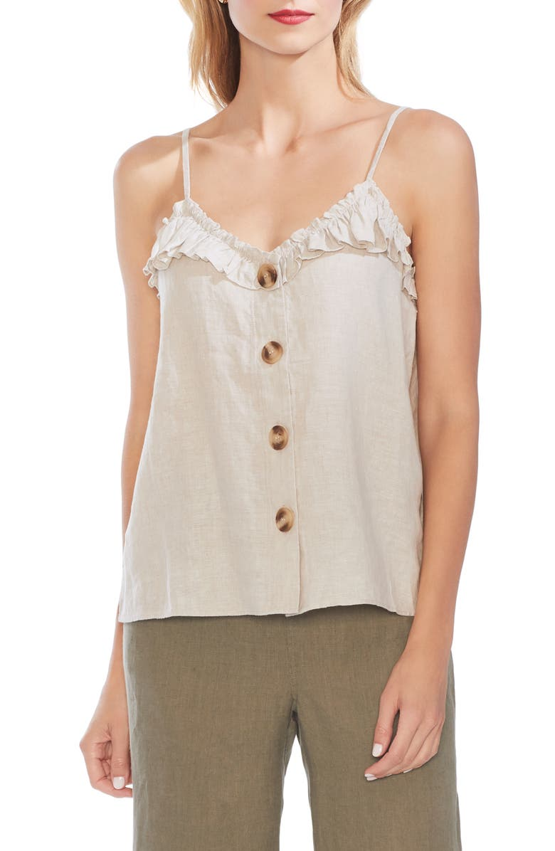 Vince Camuto Tops RUFFLE EDGE CAMISOLE