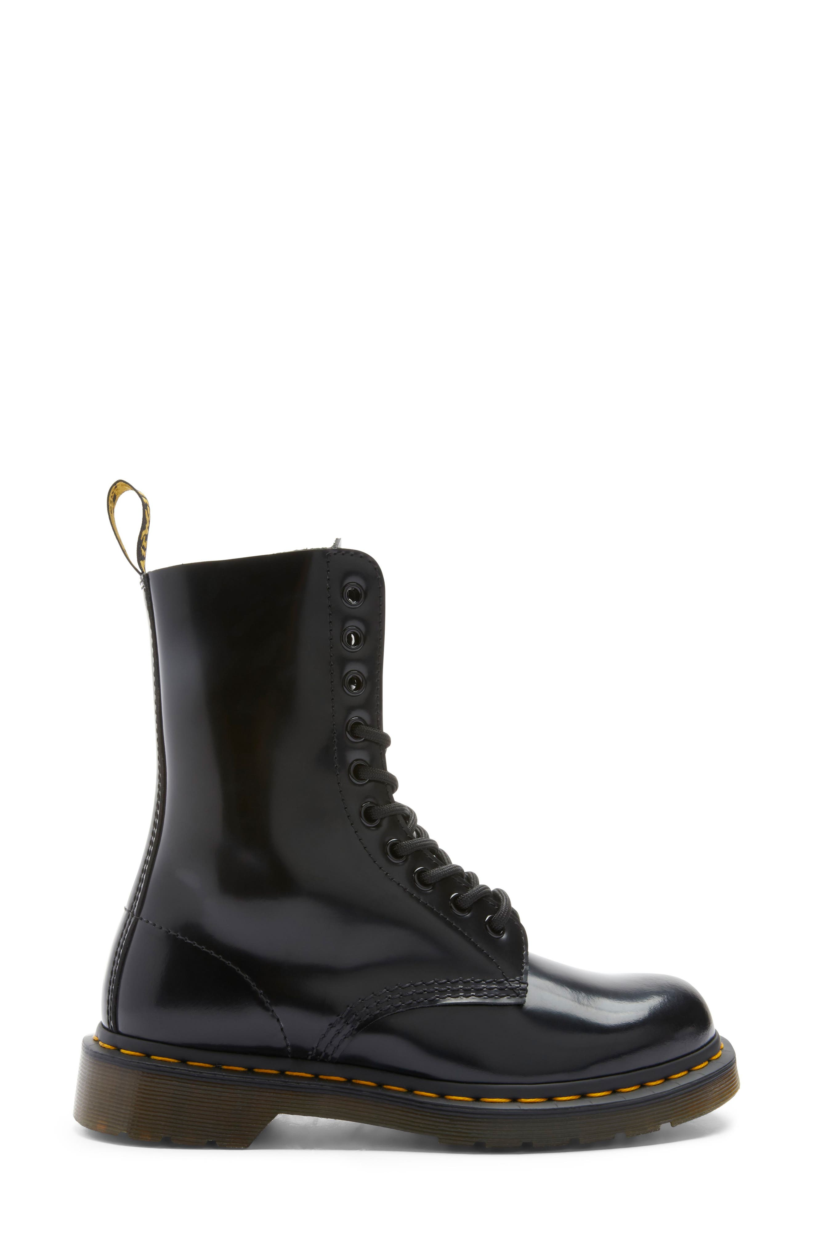 MARC JACOBS, Dr. Martens x MARC JACOBS Boot, Alternate thumbnail 3, color, BLACK