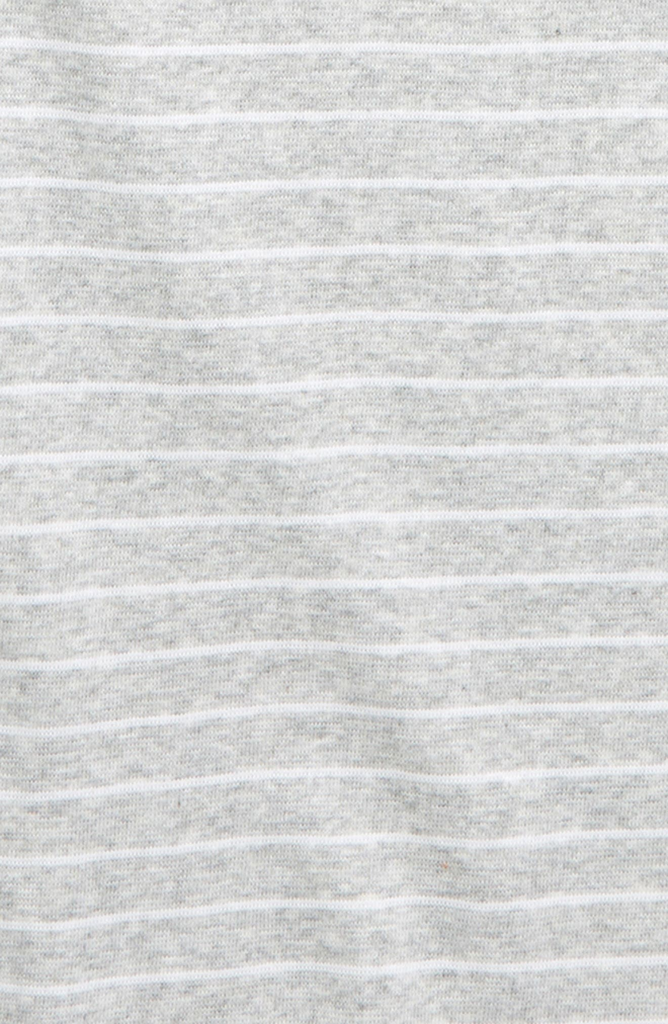 TREASURE & BOND, Stripe Tee, Alternate thumbnail 2, color, GREY ASH HEATHER- WHITE STRIPE