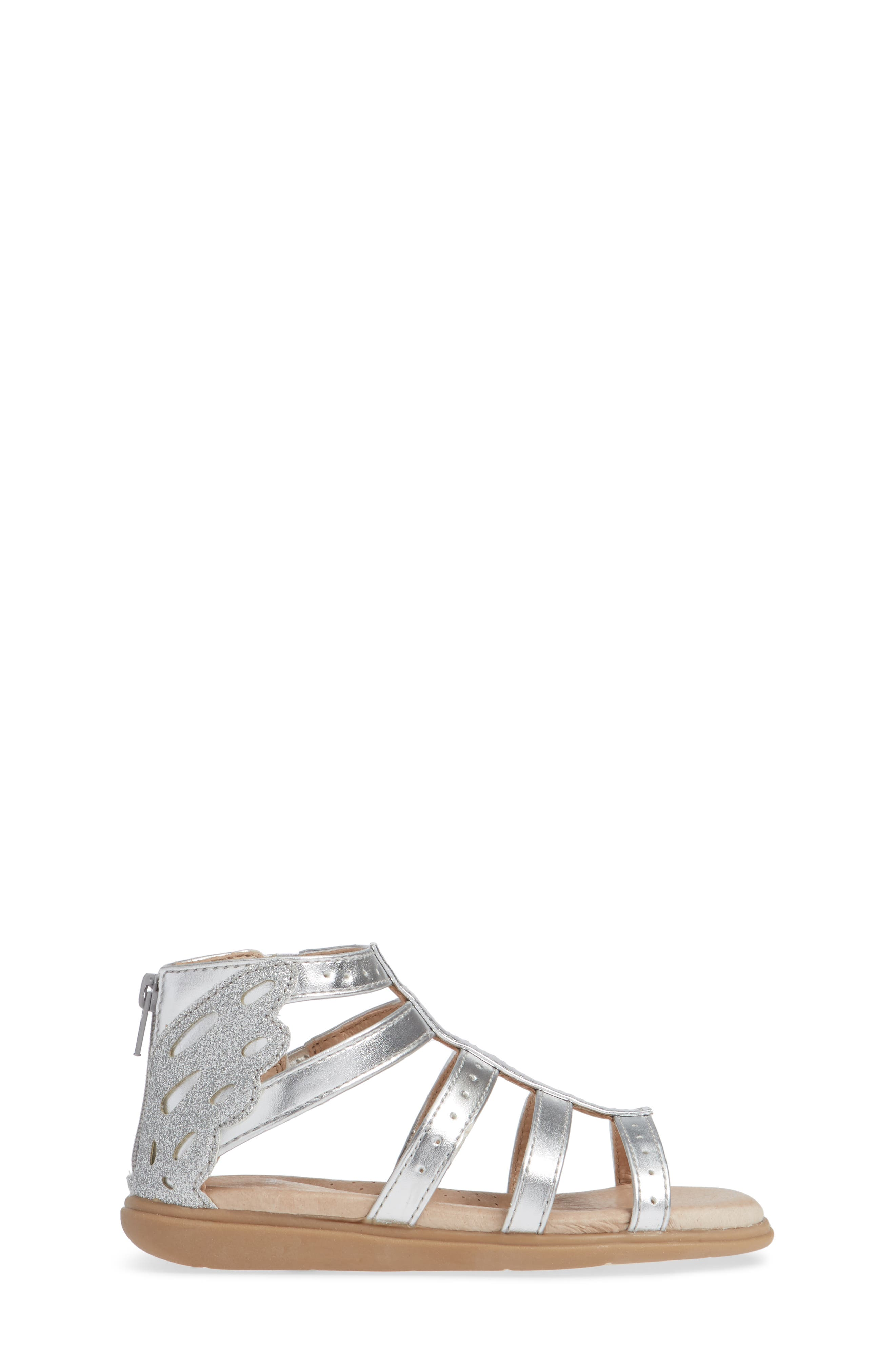 SOLE PLAY, Camille Metallic Sandal, Alternate thumbnail 3, color, SILVER