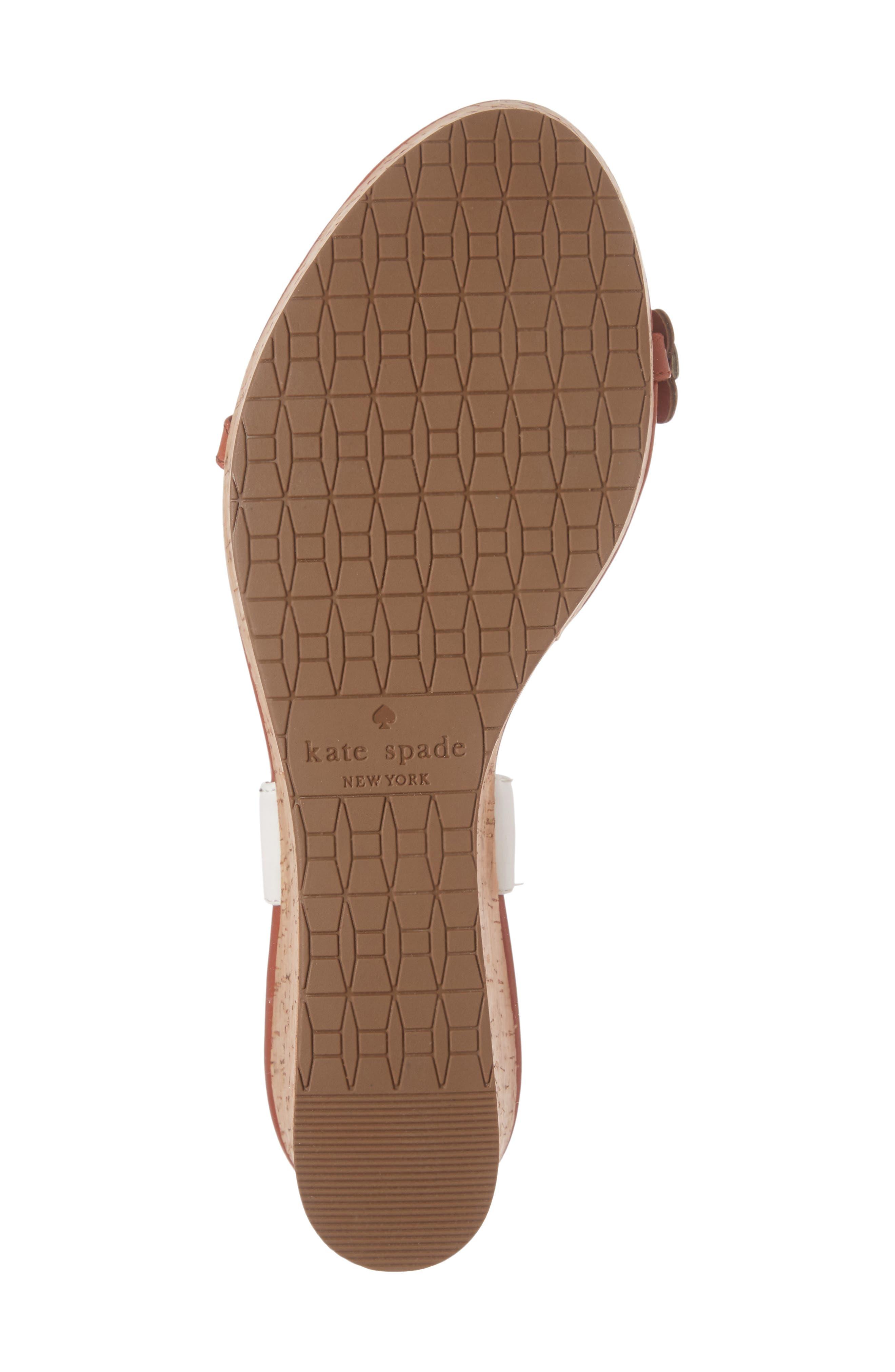 KATE SPADE NEW YORK, tisdale platform wedge sandal, Alternate thumbnail 6, color, 200