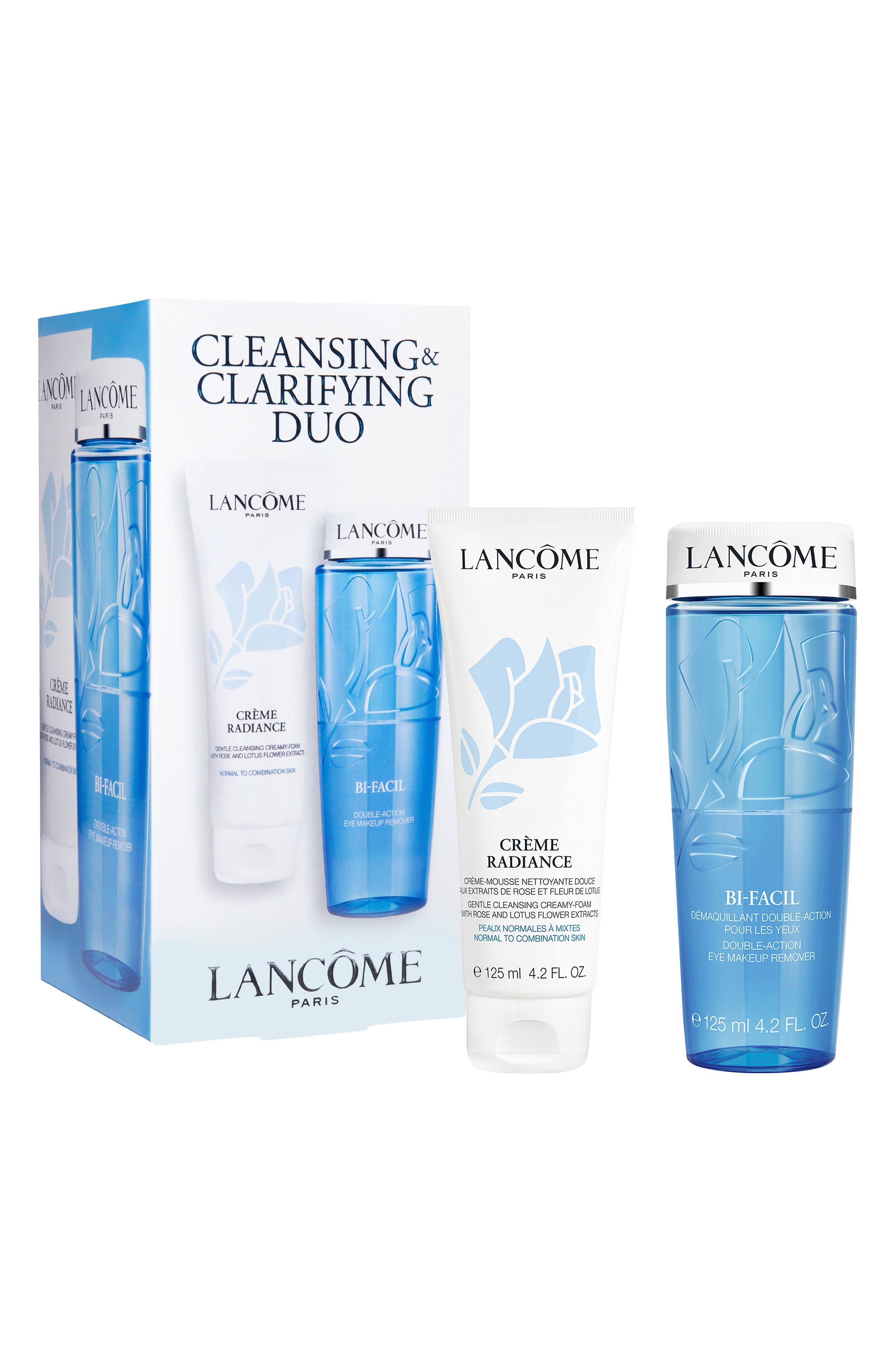 LANCÔME, Bi-Facil and Crème Radiance Cleansing and Clarifying Duo, Main thumbnail 1, color, 000