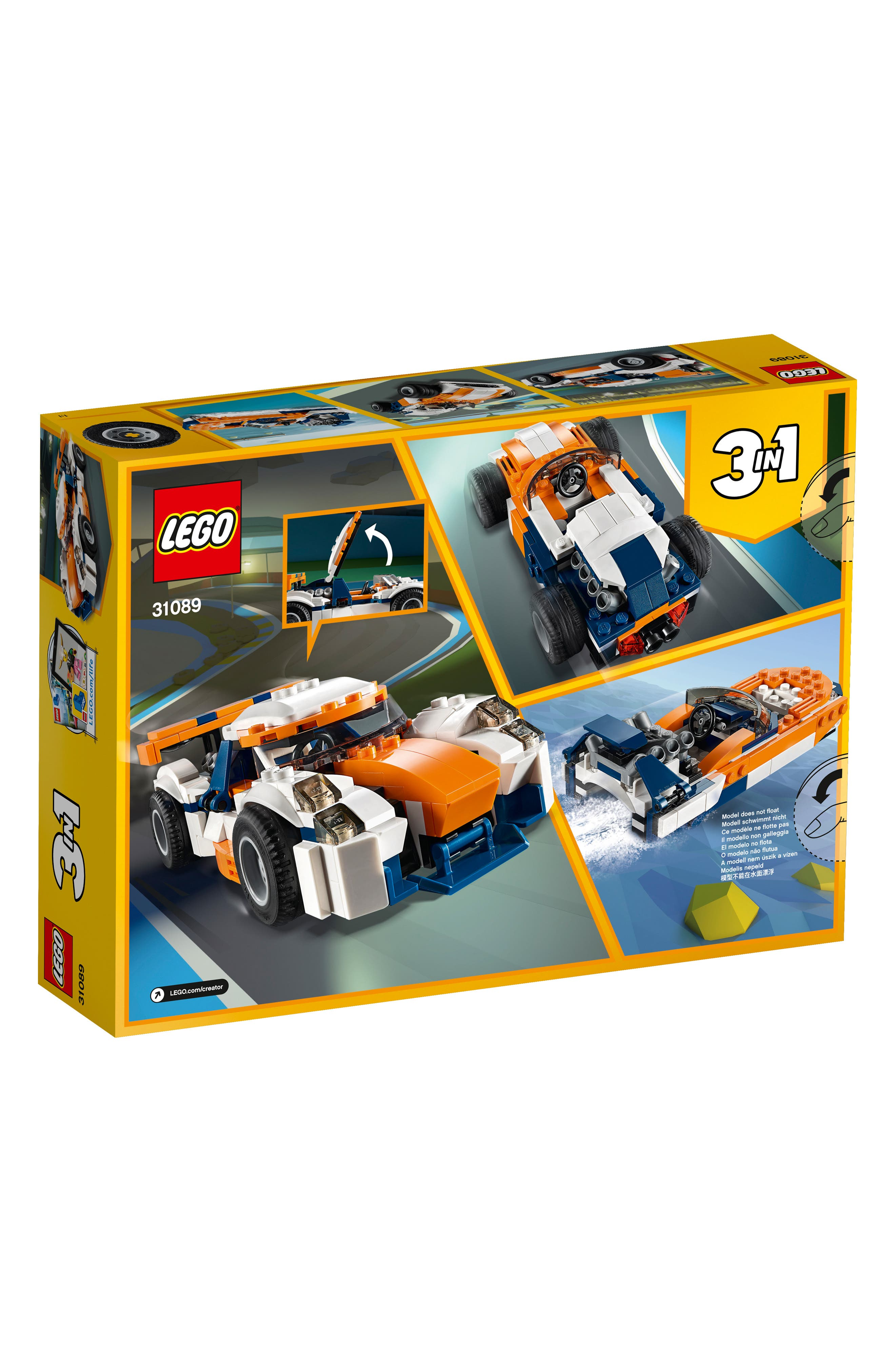 LEGO<SUP>®</SUP>, Creator 3-in-1 Sunset Track Racer - 31089, Alternate thumbnail 5, color, 960