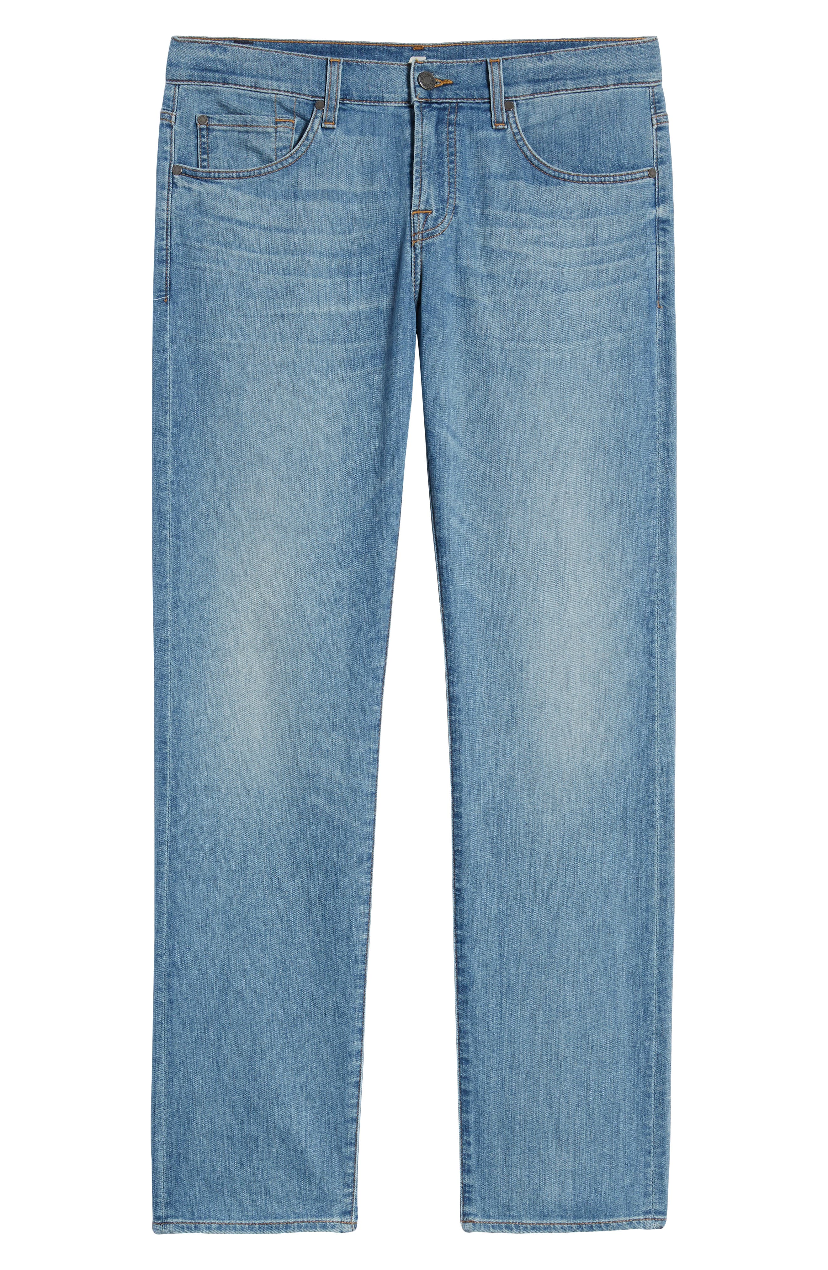 7 FOR ALL MANKIND<SUP>®</SUP>, Slim Straight Leg Jeans, Alternate thumbnail 6, color, INTREPID