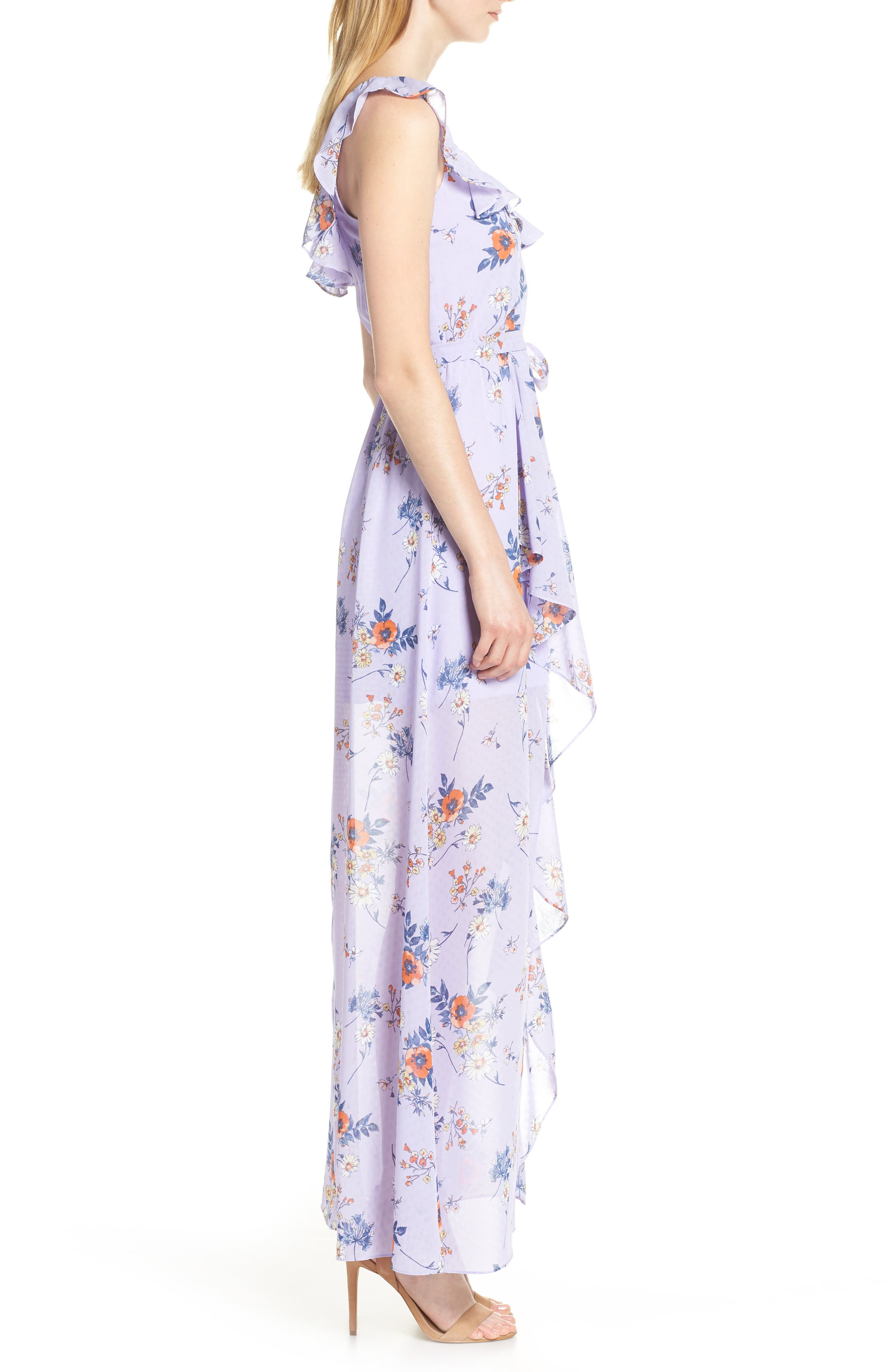 ALI & JAY, Sure Thing Maxi Dress, Alternate thumbnail 4, color, LAVENDER FIELD FLORAL