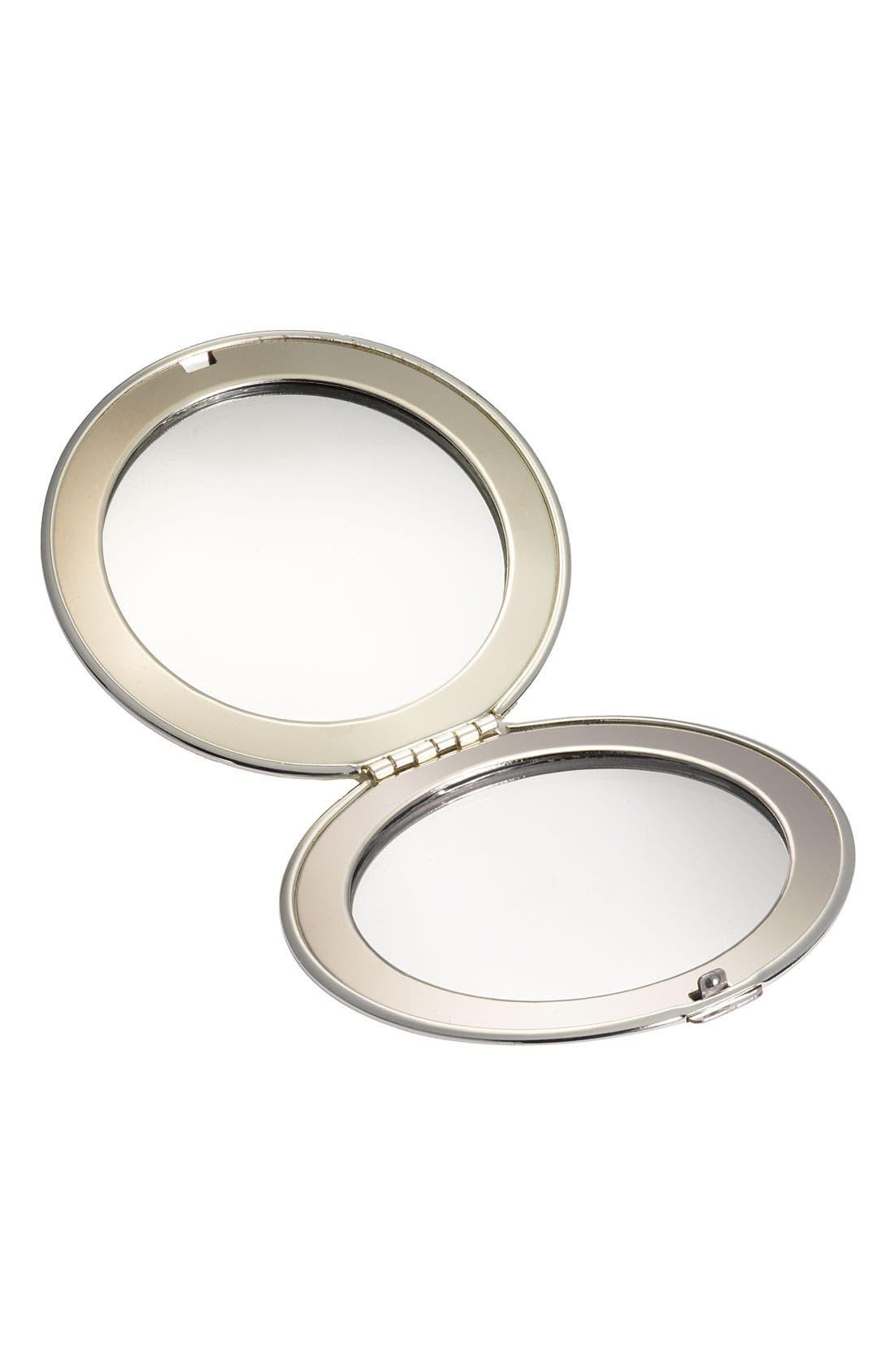 KATE SPADE NEW YORK, hello sunshine compact mirror, Alternate thumbnail 3, color, 040