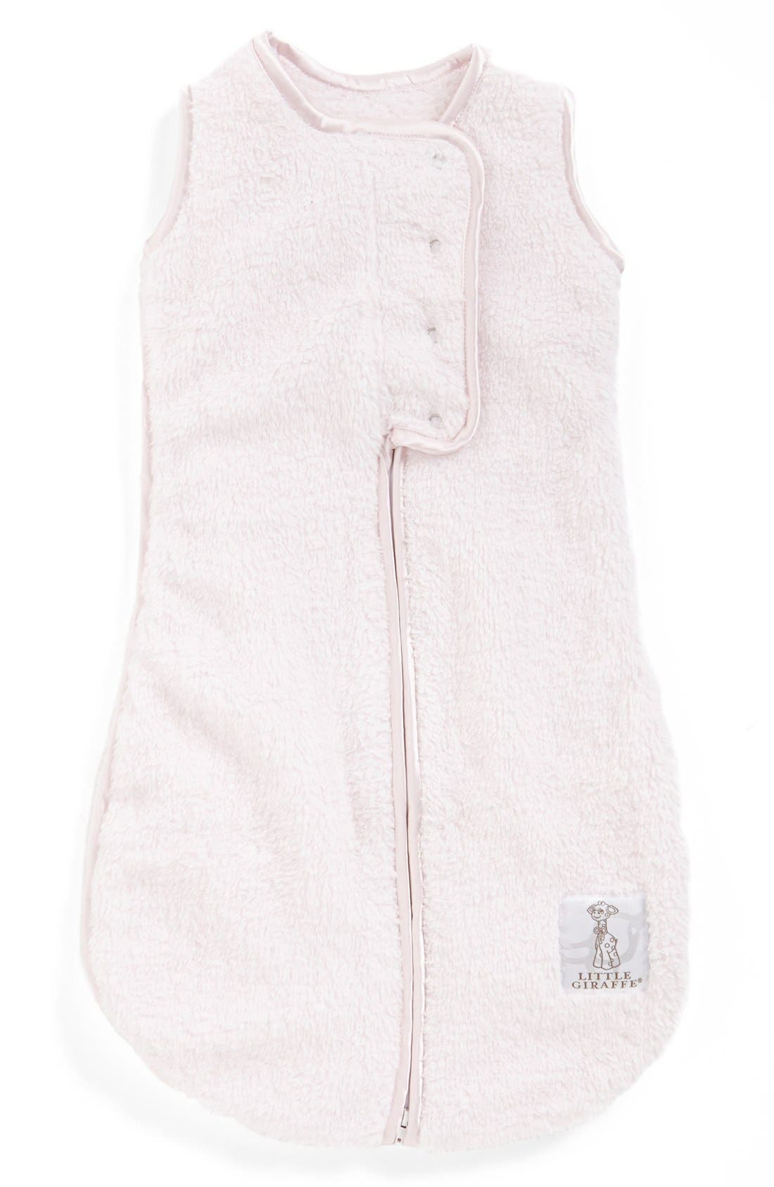 LITTLE GIRAFFE, Dream Sack<sup>™</sup> Chenille Wearable Blanket, Main thumbnail 1, color, PINK