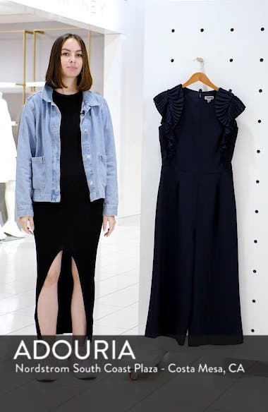 Pleated Shoulder Crop Jumpsuit, sales video thumbnail