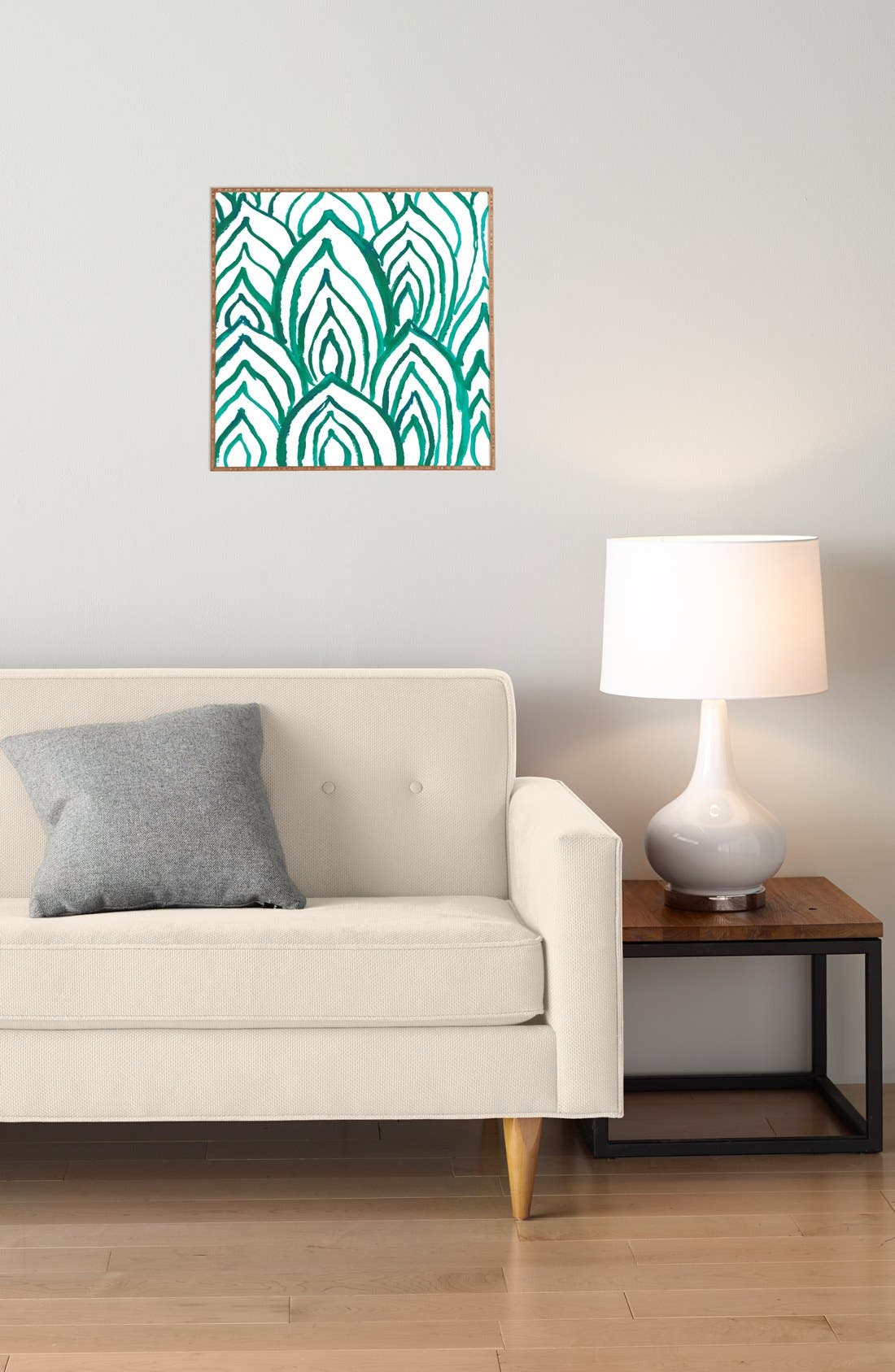 DENY DESIGNS, 'Emerald Coast' Framed Wall Art, Alternate thumbnail 3, color, 300