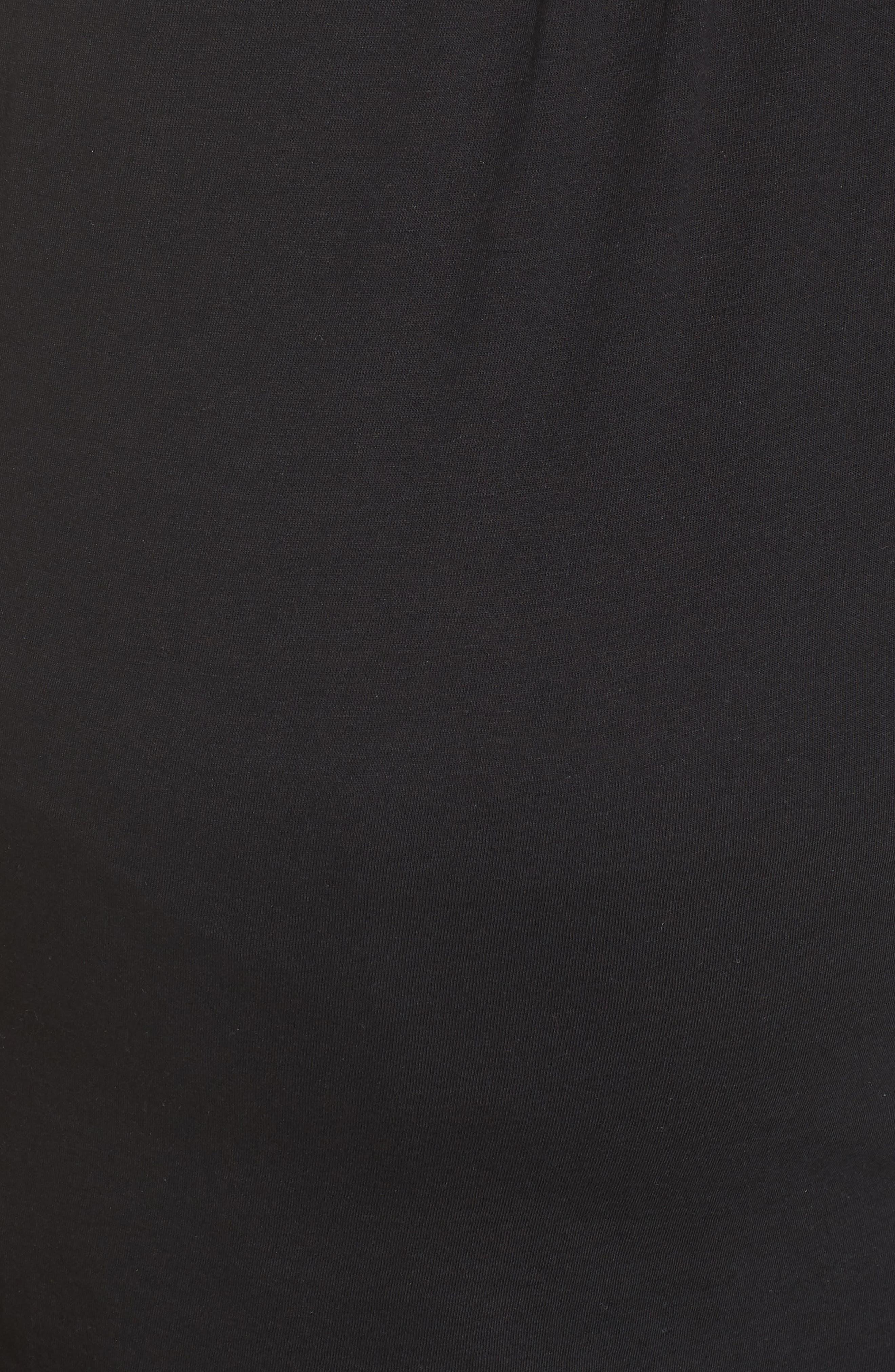 BELABUMBUM, Maternity/Nursing Robe & Pajamas, Alternate thumbnail 6, color, BLACK