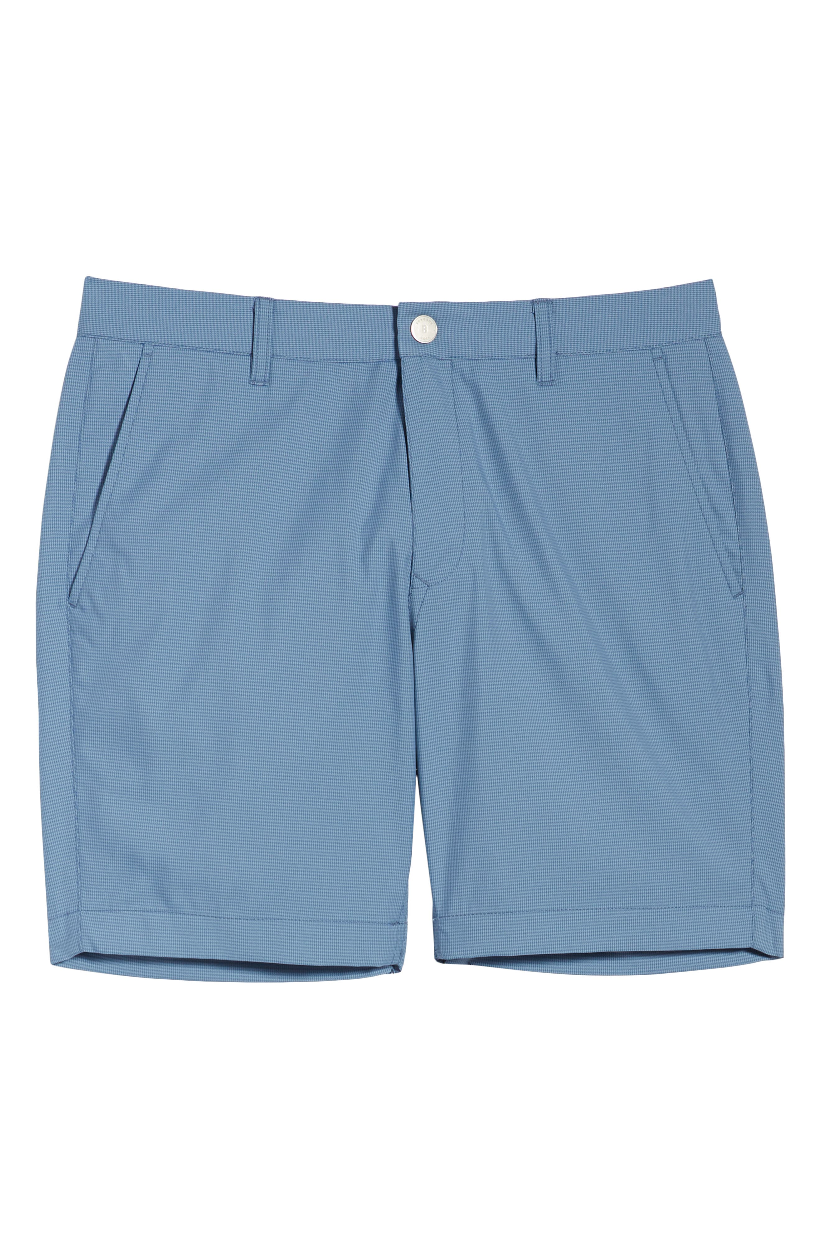 BONOBOS, The Highland Micro Houndstooth Golf Shorts, Alternate thumbnail 6, color, BLUE MINICHECK C3