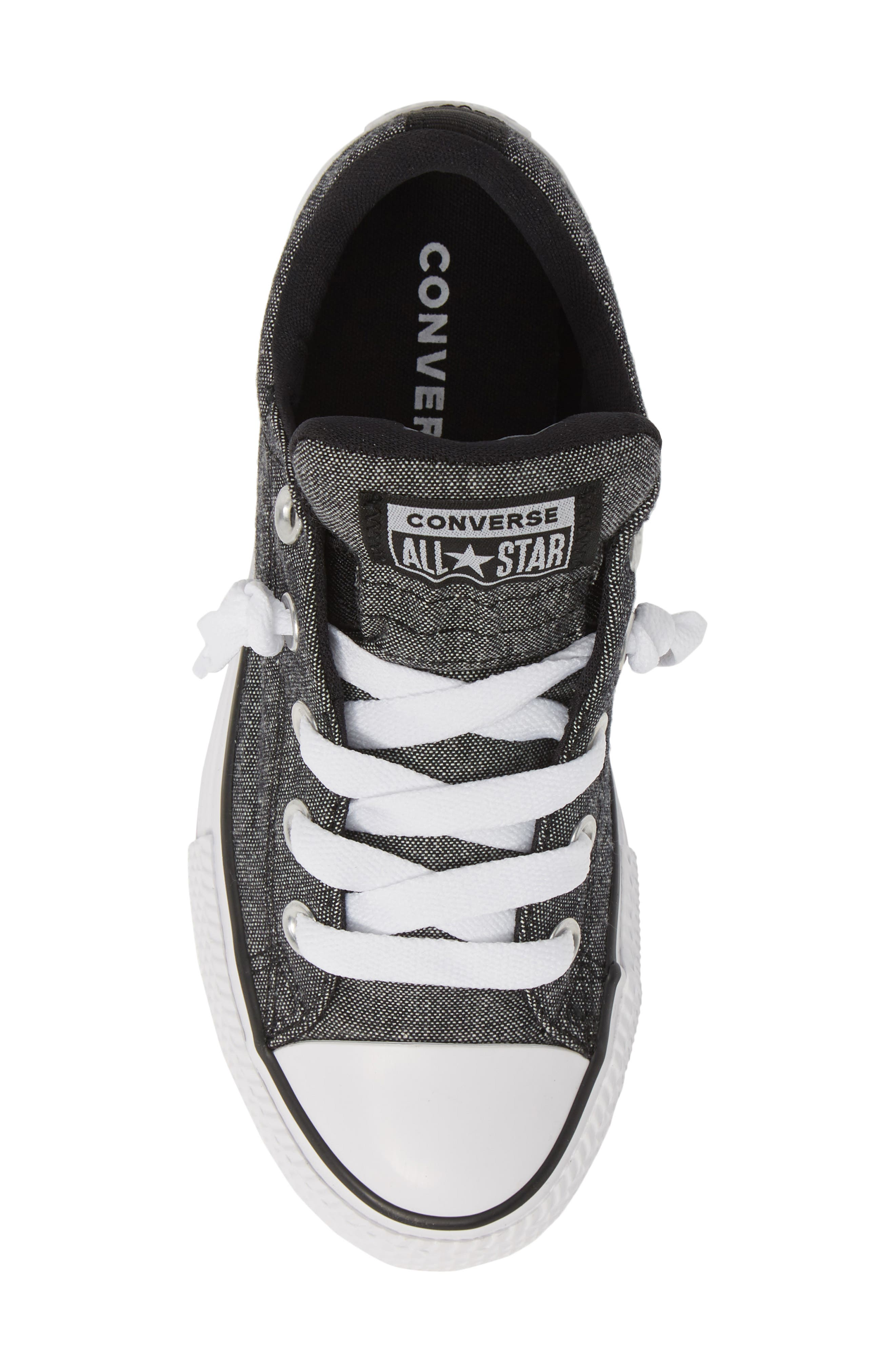 CONVERSE, Chuck Taylor<sup>®</sup> All Star<sup>®</sup> Street Sneaker, Alternate thumbnail 5, color, BLACK/ BLACK/ WHITE