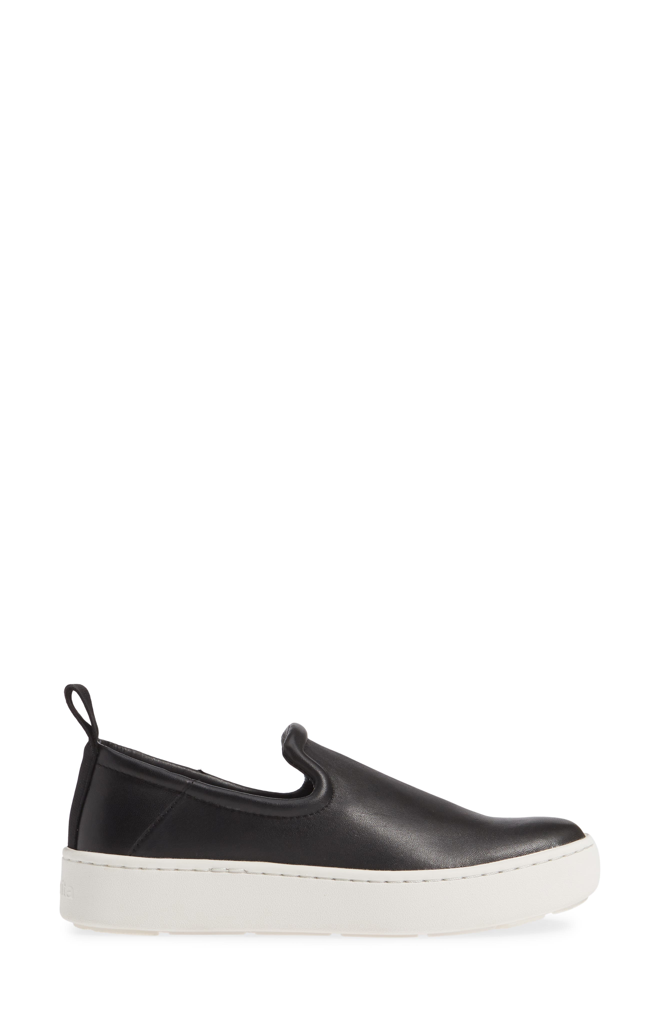 DOLCE VITA, Tag Slip-On Sneaker, Alternate thumbnail 3, color, BLACK LEATHER