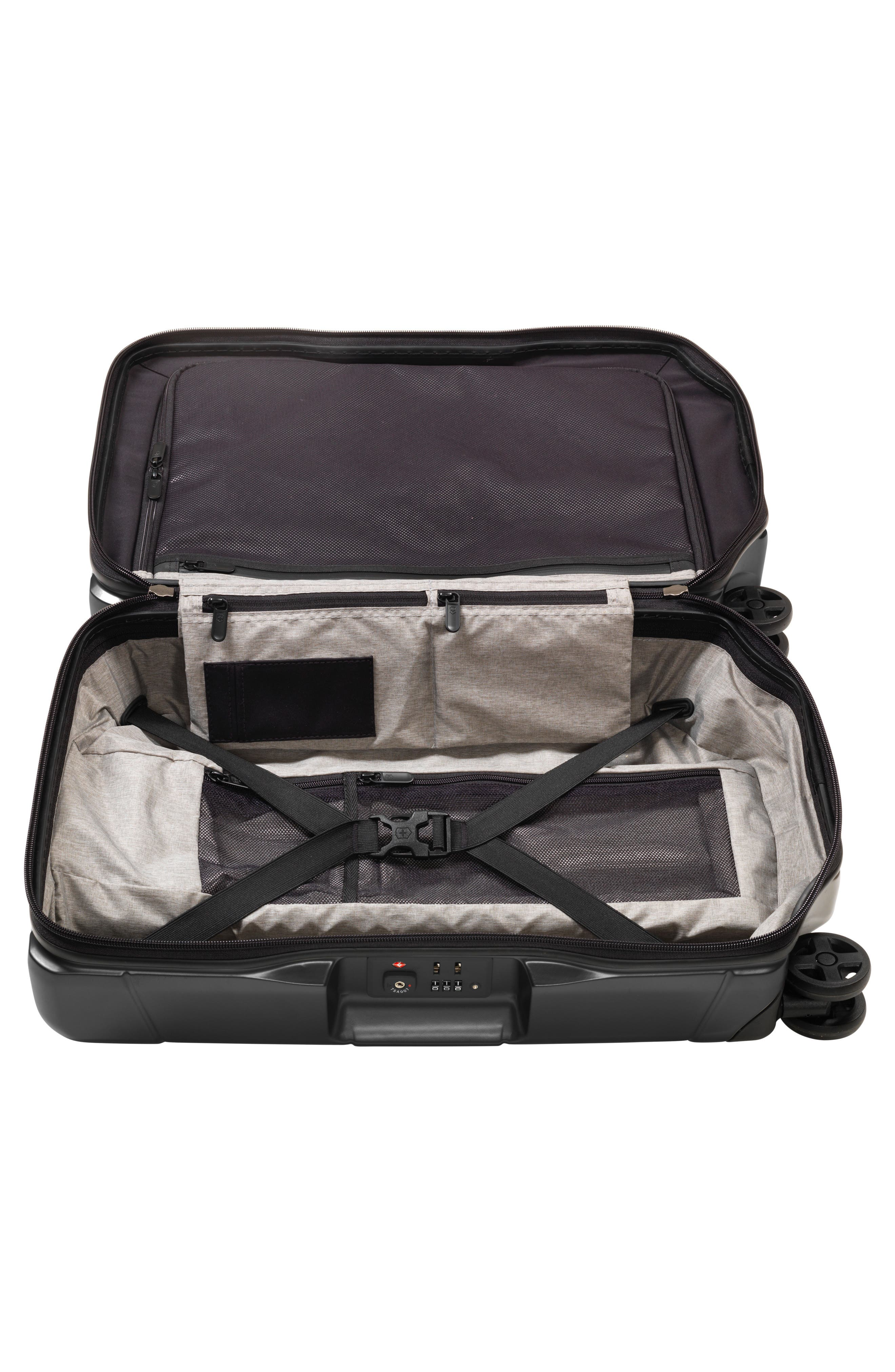 VICTORINOX SWISS ARMY<SUP>®</SUP>, Lexicon Frequent Flyer 22-Inch Wheeled Carry-On, Alternate thumbnail 2, color, BLACK