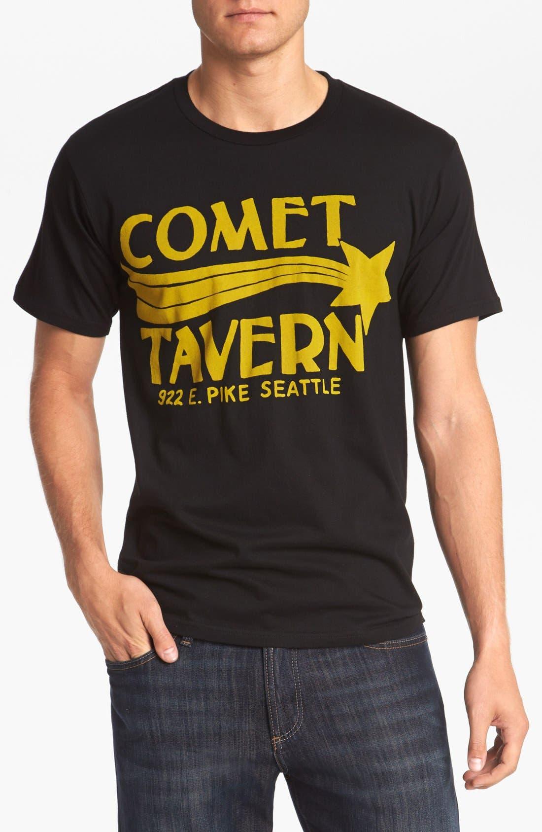 HORSES CUT SHOP, 'Comet Tavern' T-Shirt, Main thumbnail 1, color, 001