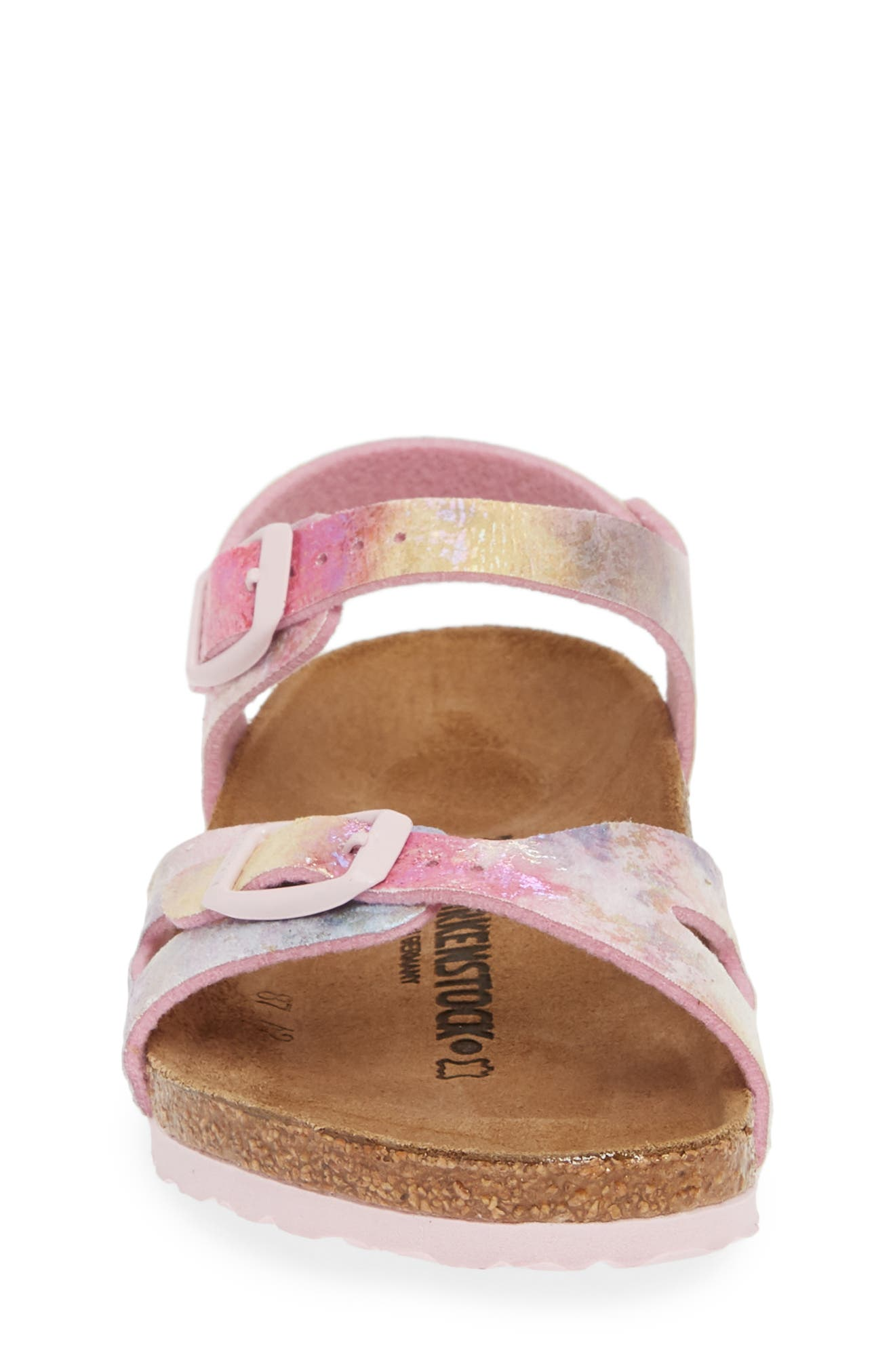 BIRKENSTOCK, Rio Watercolor Sandal, Alternate thumbnail 4, color, WATER COLOR MULTI