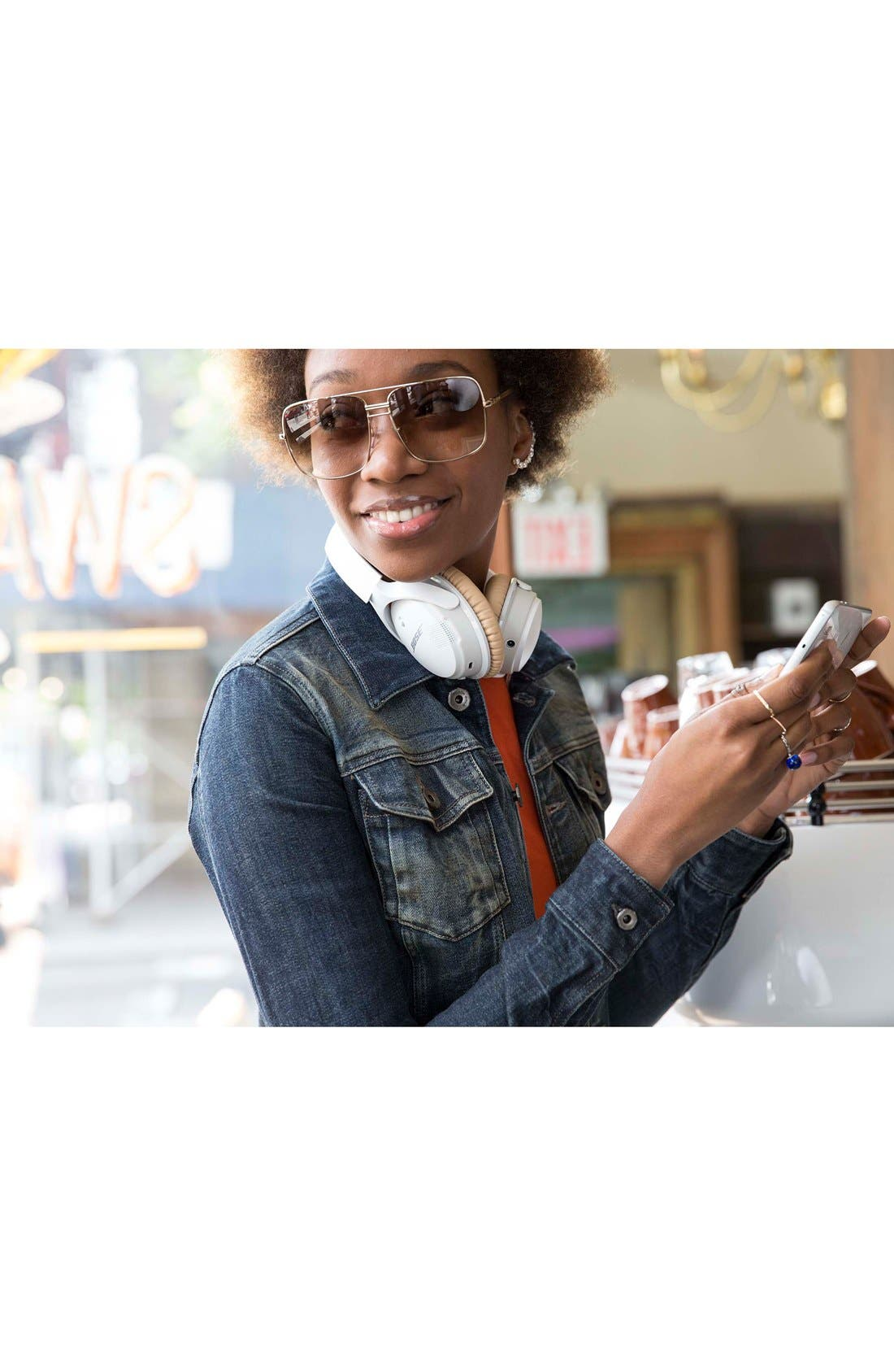 BOSE<SUP>®</SUP>, SoundLink<sup>®</sup> II Around-Ear Bluetooth<sup>®</sup> Headphones, Alternate thumbnail 5, color, WHITE