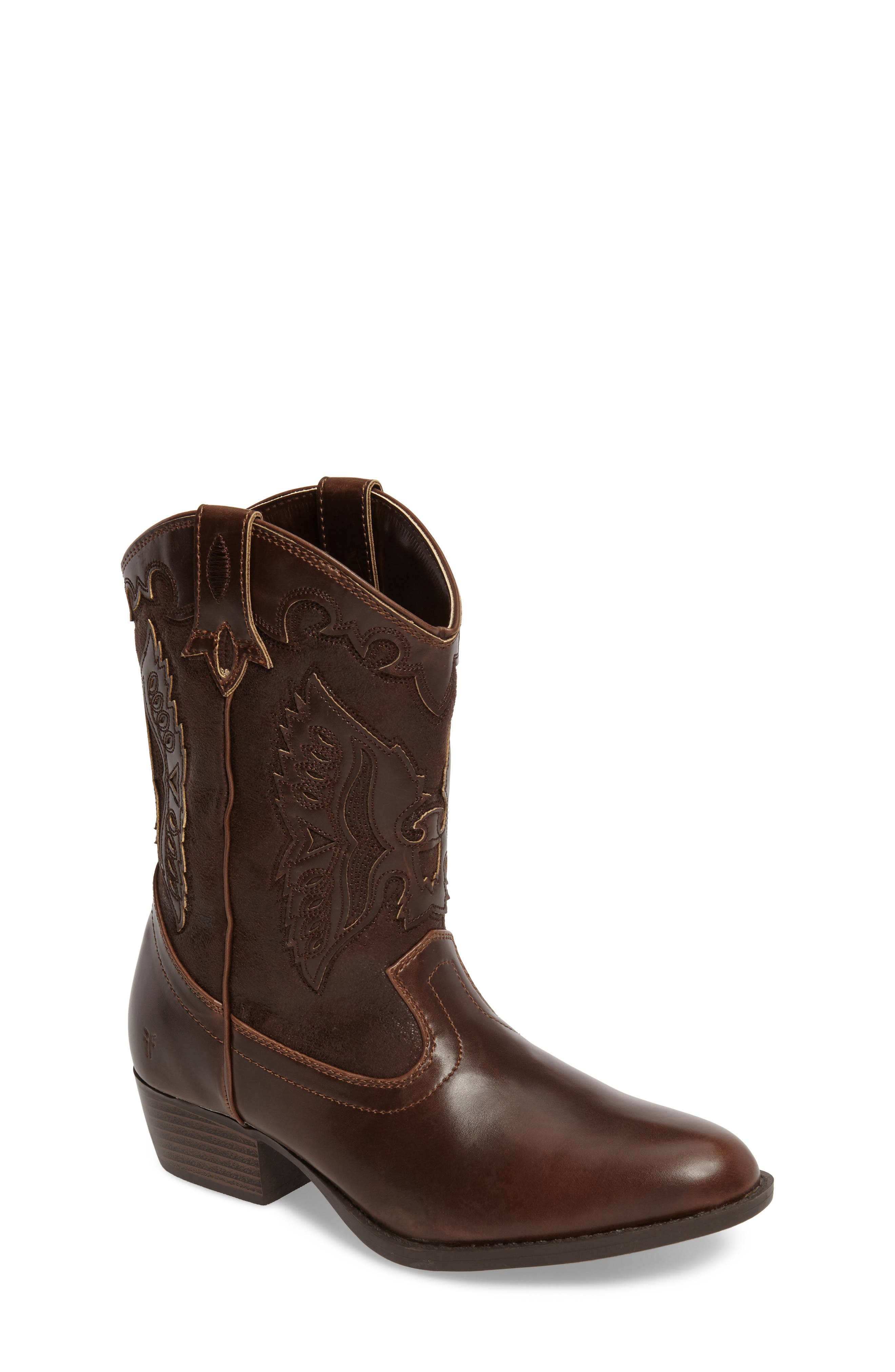 FRYE, Carson Firebird Cowgirl Boot, Main thumbnail 1, color, BROWN