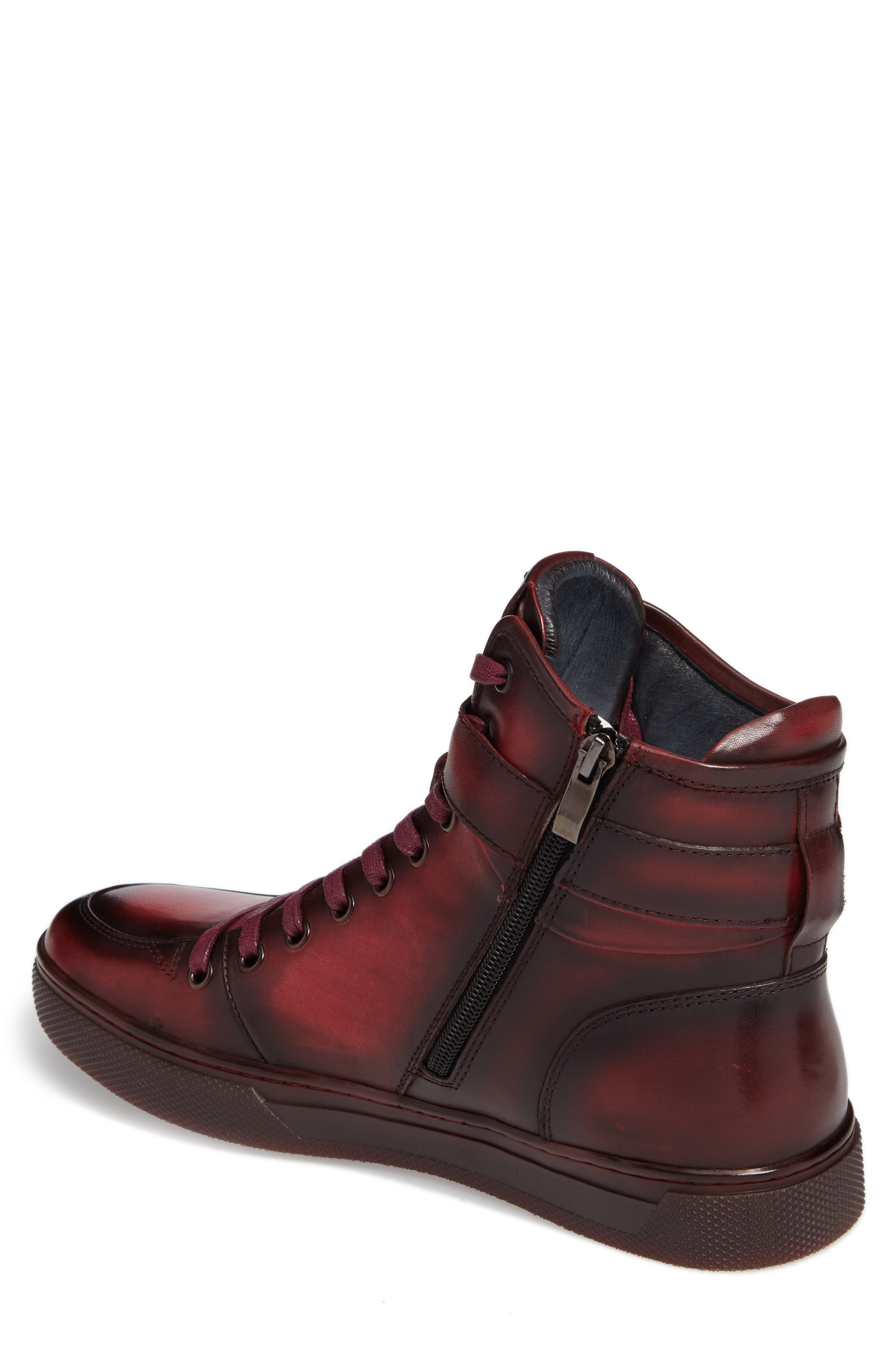 JUMP, Sullivan High Top Sneaker, Alternate thumbnail 2, color, RUBY
