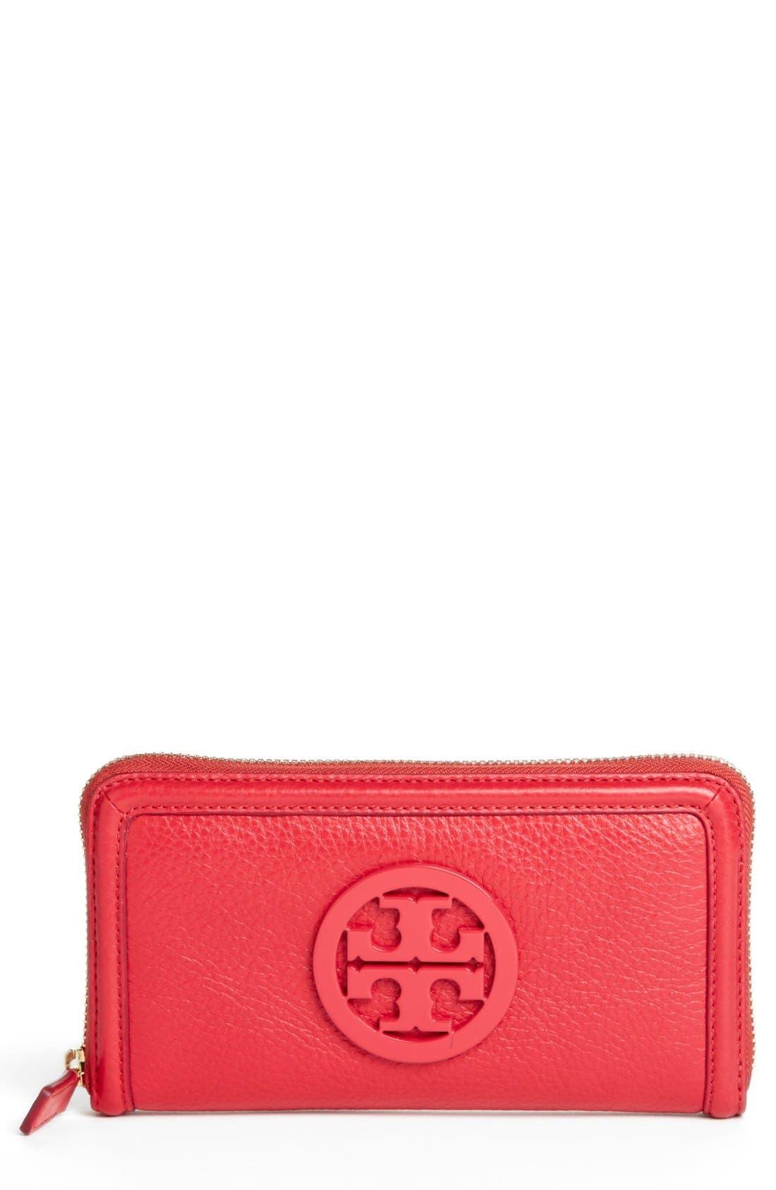 TORY BURCH, 'Amanda' Continental Wallet, Main thumbnail 1, color, 500