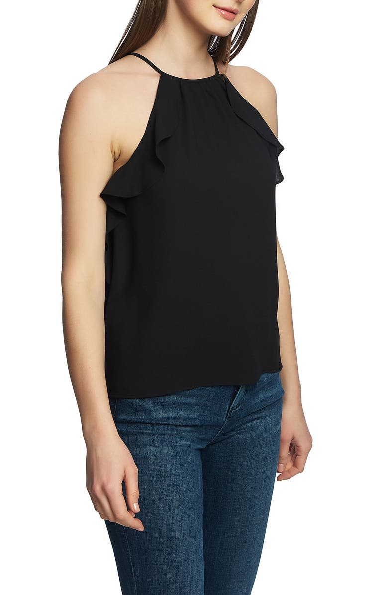 1.state Tops Flounce Edge Halter Neck Top