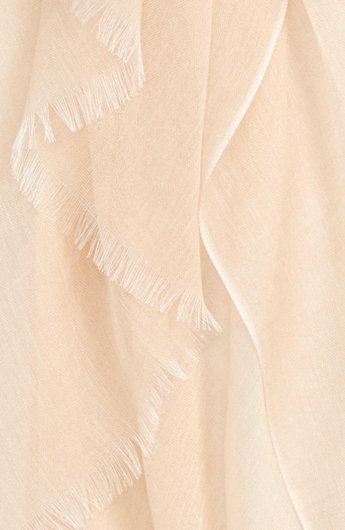 NORDSTROM, Modal Silk Blend Scarf, Alternate thumbnail 4, color, BEIGE BISCUIT