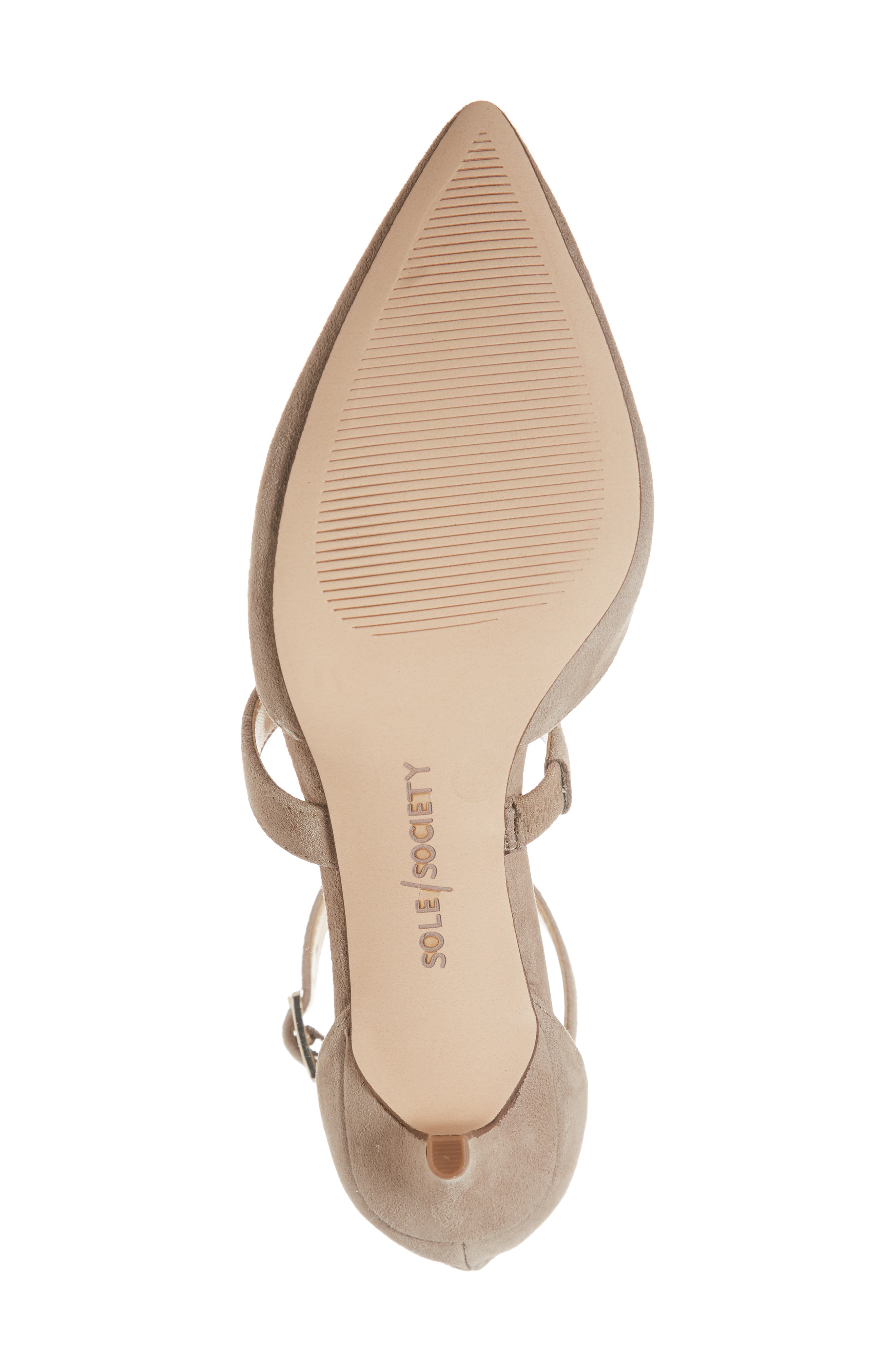 SOLE SOCIETY, Edelyn Pump, Alternate thumbnail 6, color, FALL TAUPE SUEDE