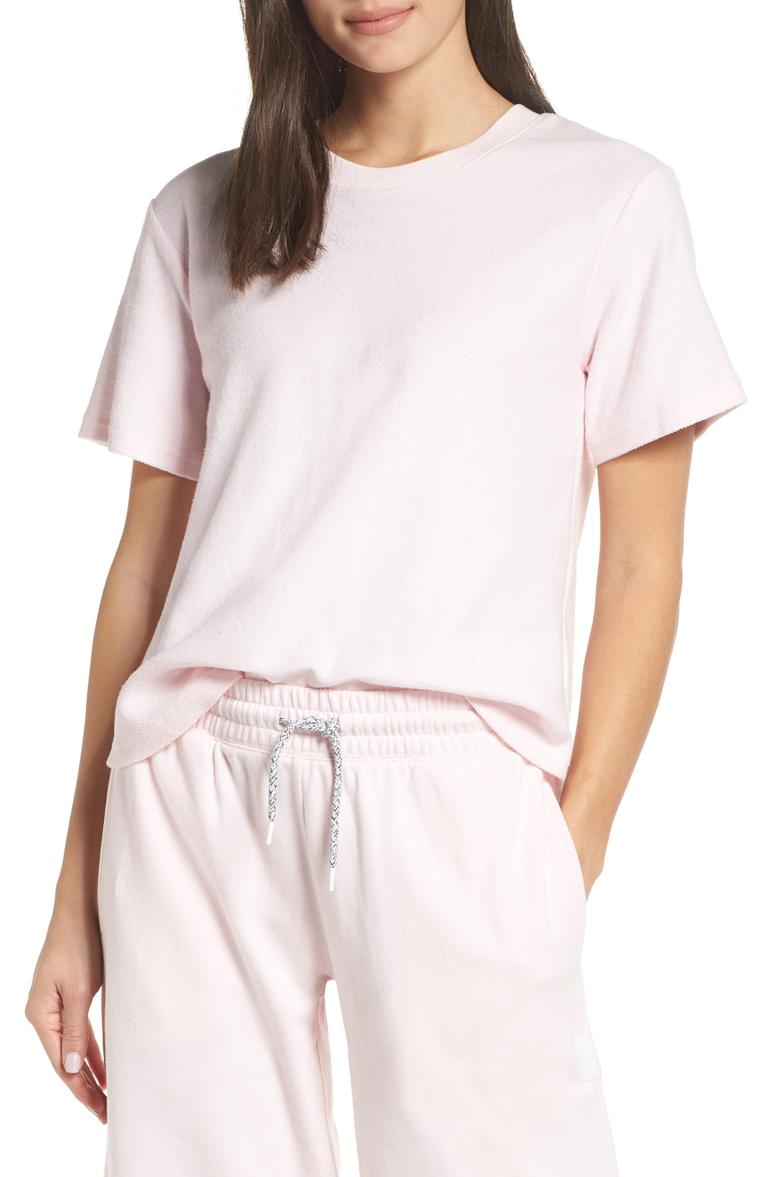 CHALMERS, Indy Tee, Main thumbnail 1, color, BLUSH PINK BABY TERRY