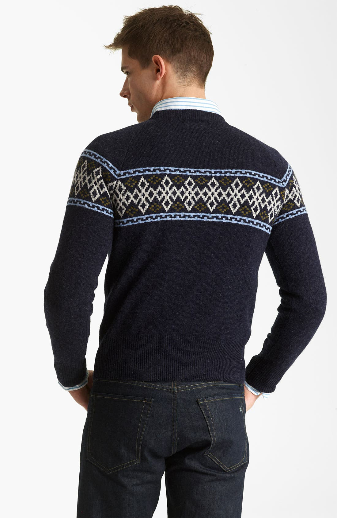 GANT BY MICHAEL BASTIAN, Wool Crewneck Sweater, Alternate thumbnail 2, color, 410