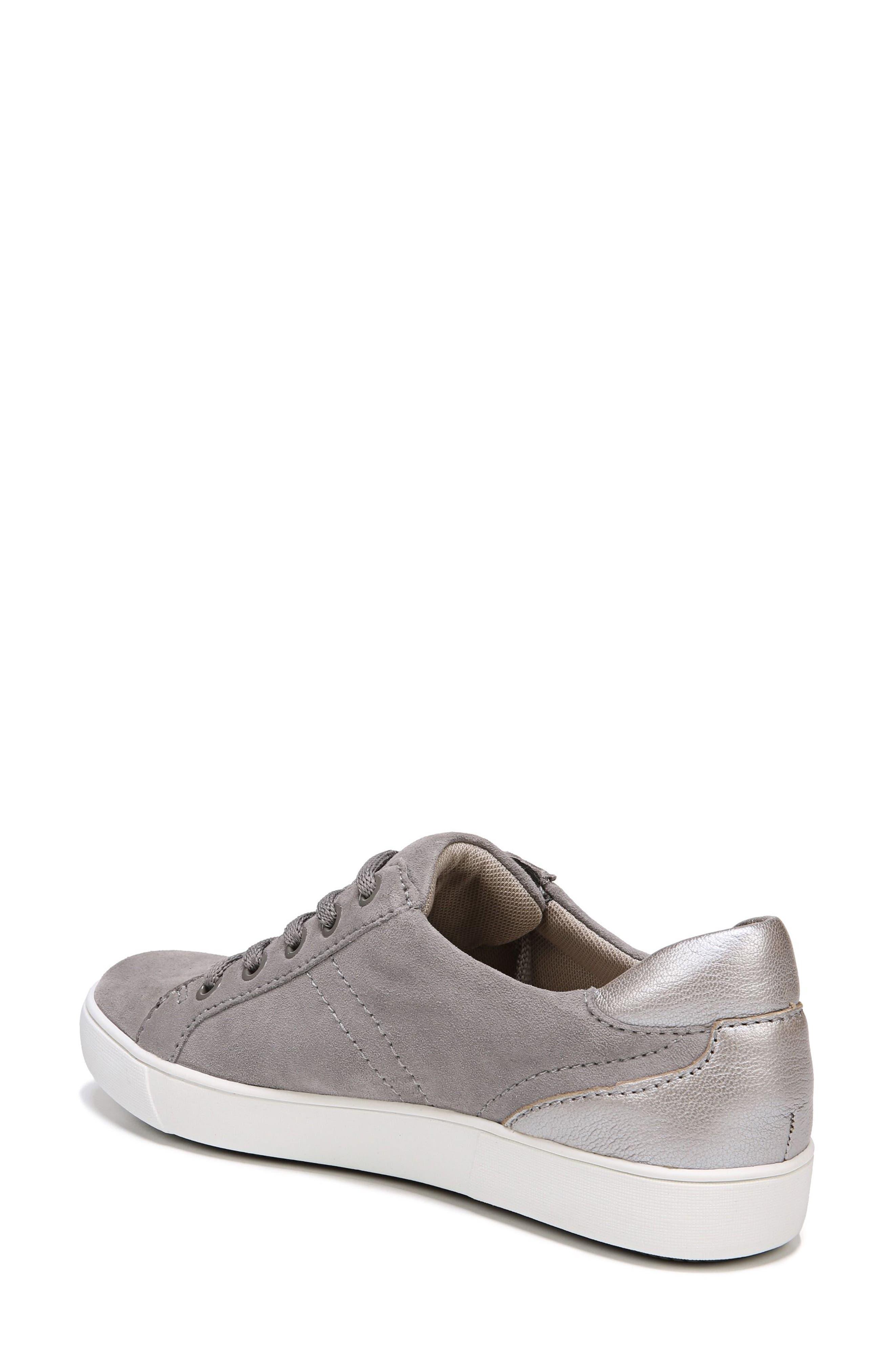 NATURALIZER, Morrison Sneaker, Alternate thumbnail 2, color, GREY SUEDE