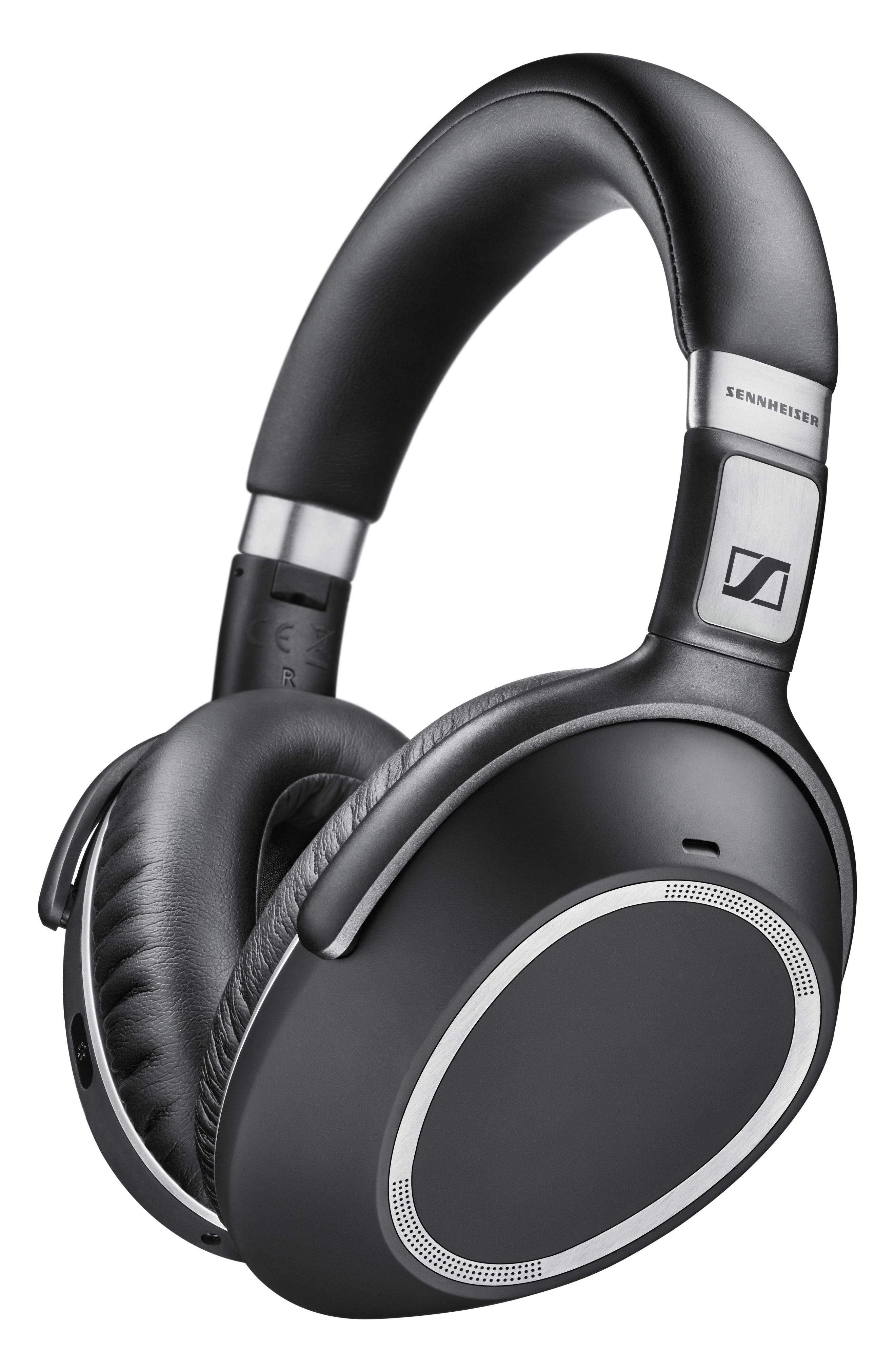 SENNHEISER, PXC 550 Wireless Bluetooth<sup>®</sup> Noise Cancelling Headphones, Alternate thumbnail 5, color, BLACK/ SILVER
