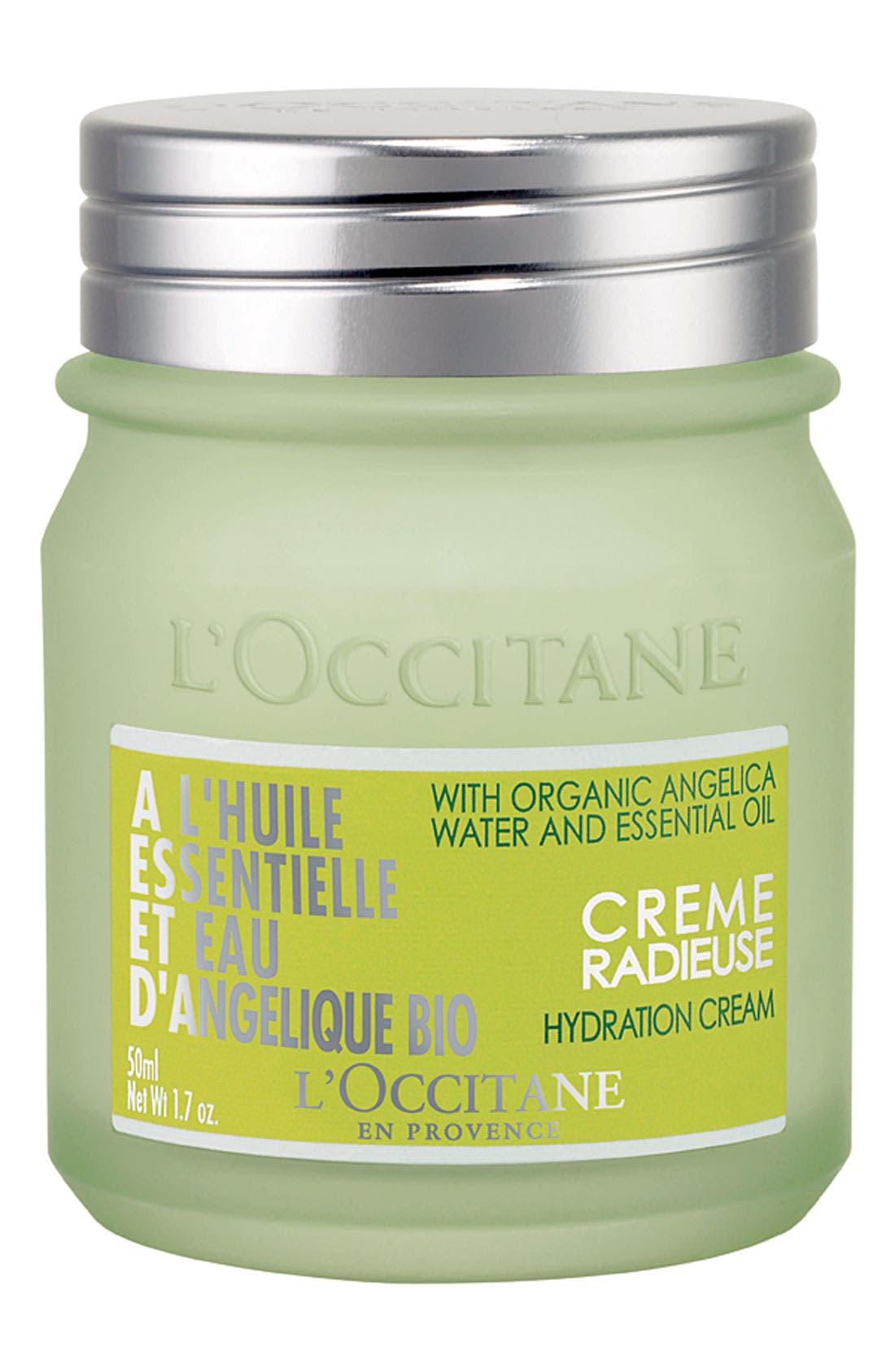 L'OCCITANE, 'Angelica' Hydration Cream, Main thumbnail 1, color, 000