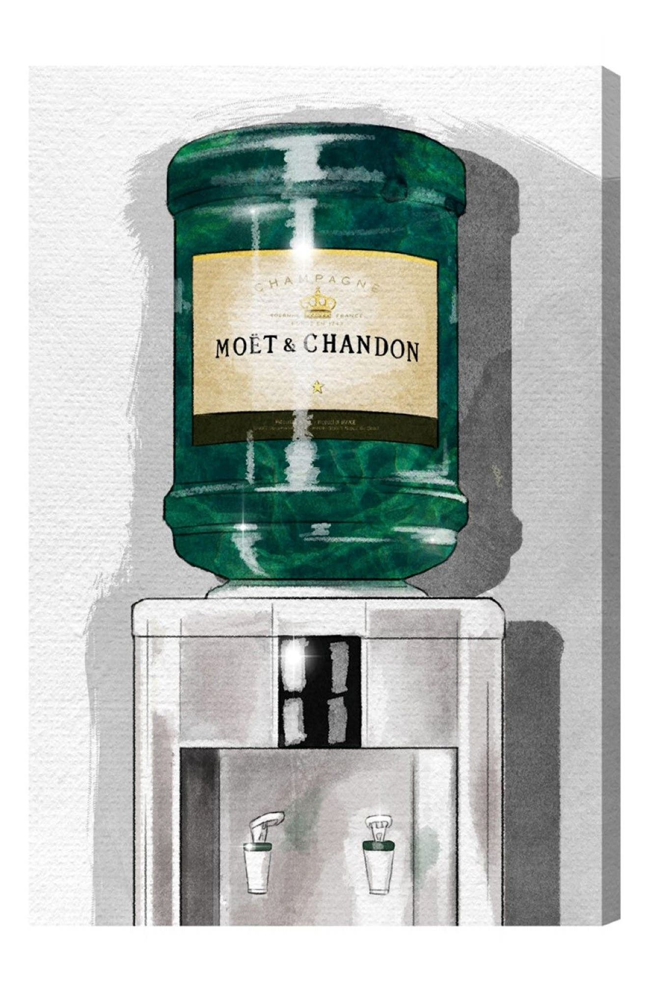 OLIVER GAL, Champagne For Days Canvas Print, Main thumbnail 1, color, GREEN