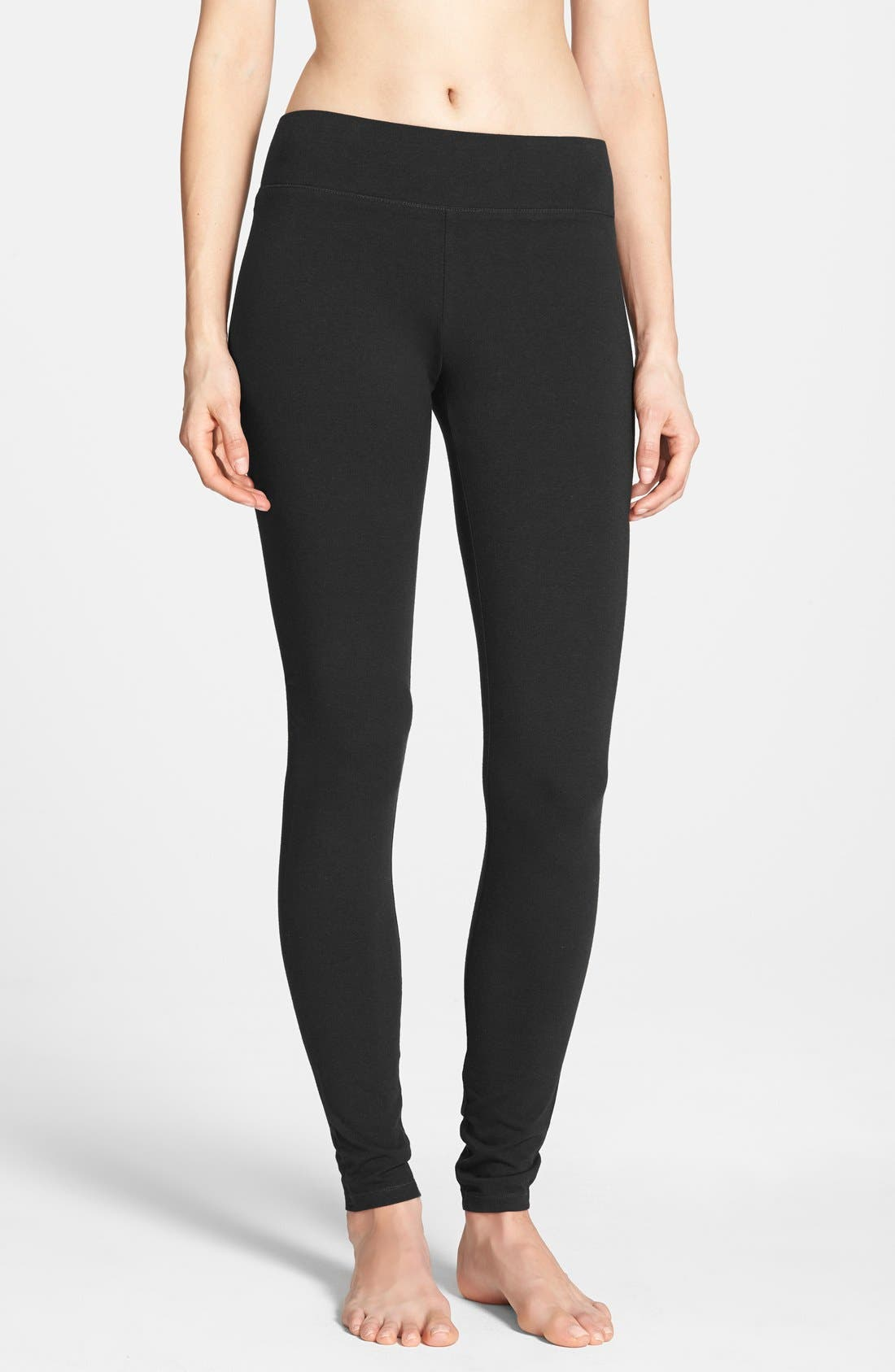 HUE, Ultra Wide Waistband Leggings, Main thumbnail 1, color, 001