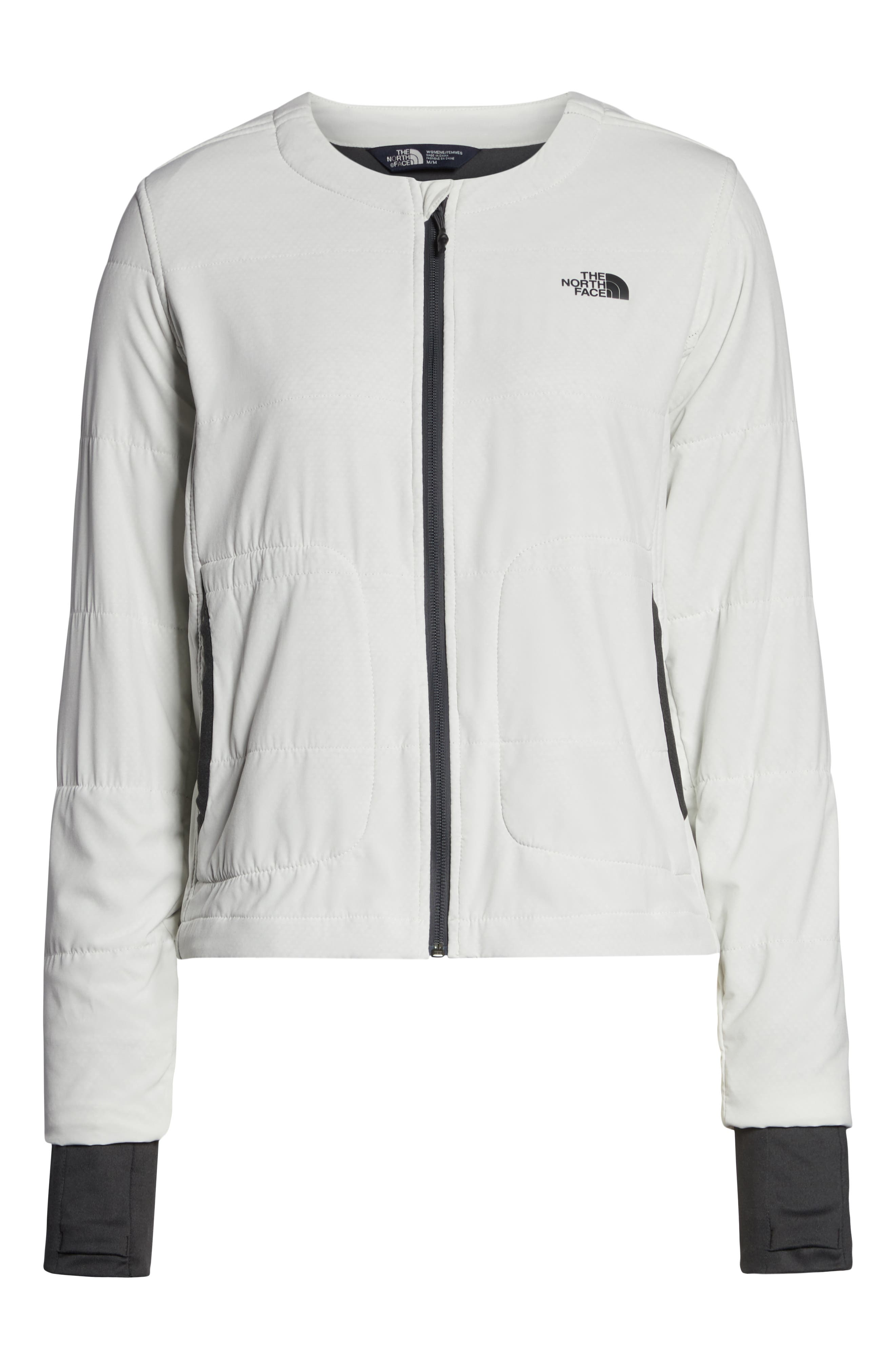 THE NORTH FACE, Mountain Insulated Collarless Zip Jacket, Alternate thumbnail 6, color, 050