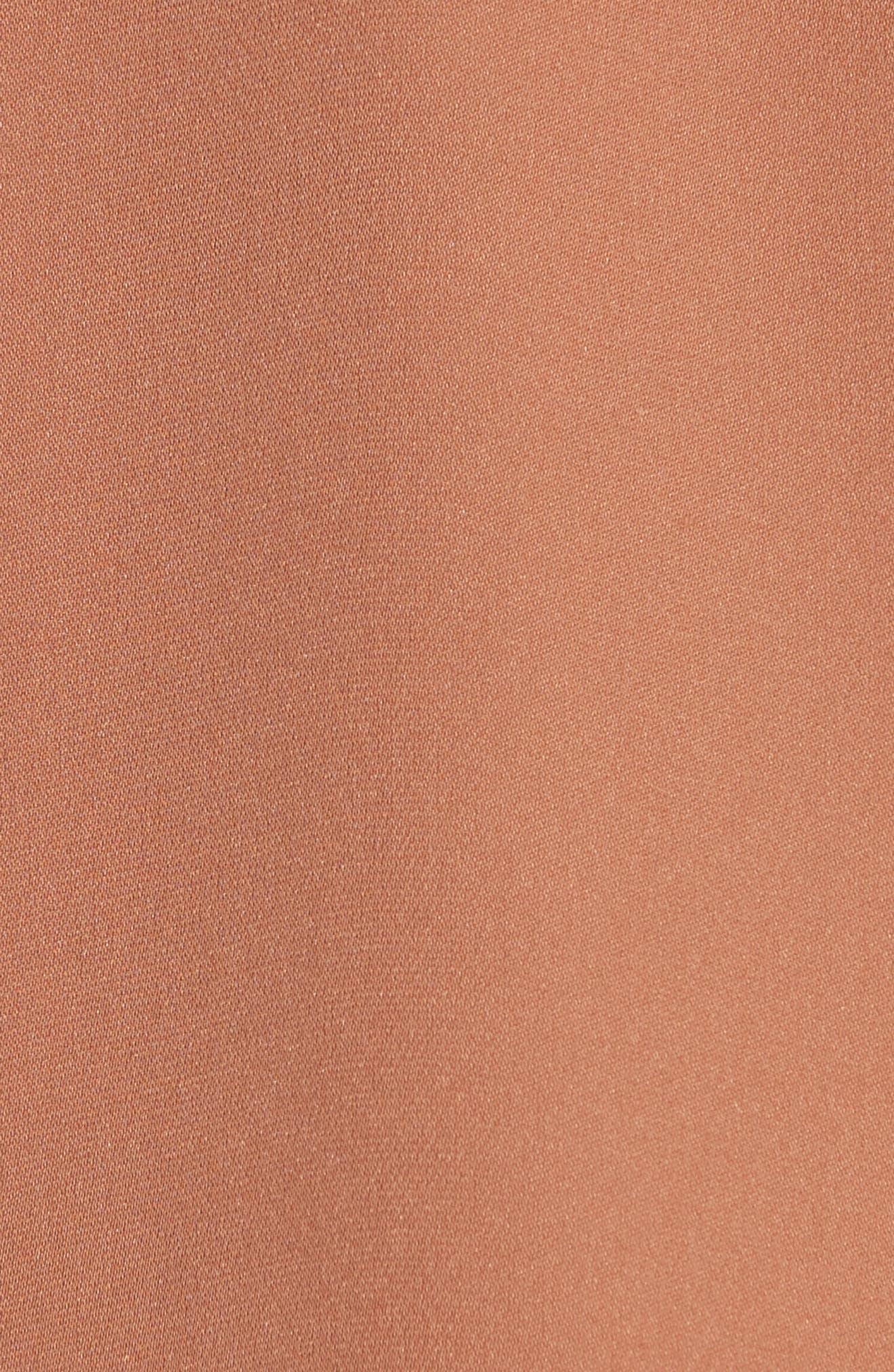 VINCE, Sleeveless Silk Blouse, Alternate thumbnail 5, color, PINK UMBER
