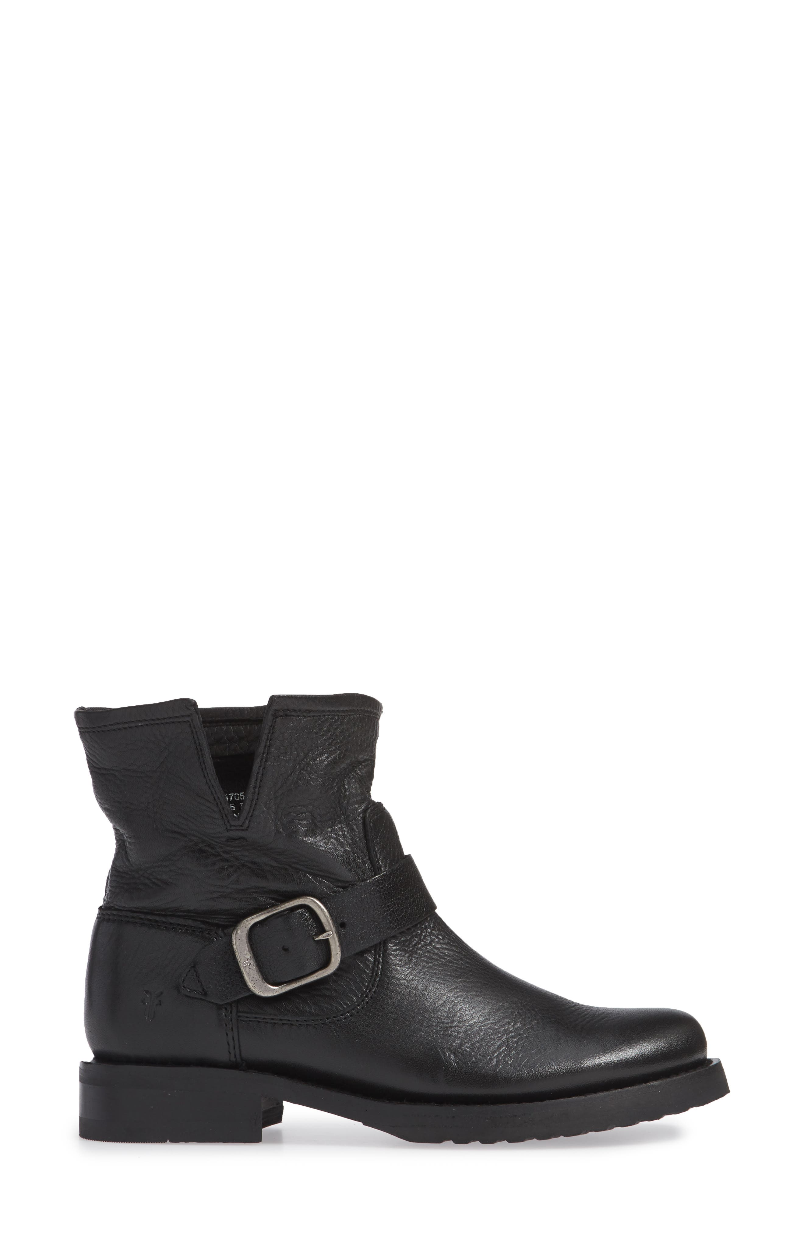 FRYE, Veronica Bootie, Alternate thumbnail 3, color, BLACK LEATHER