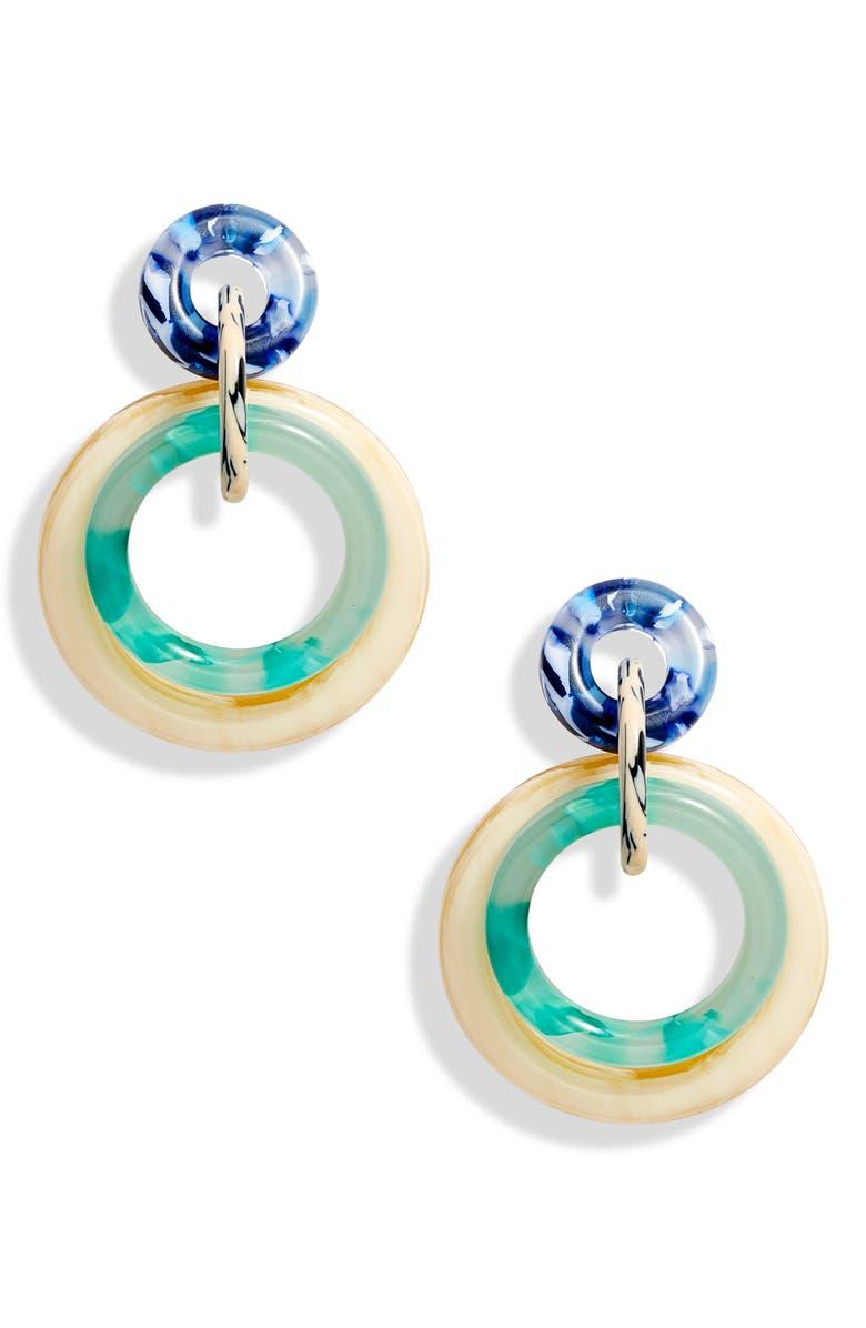 Lele Sadoughi Accessories DOUBLE RING HOOP EARRINGS